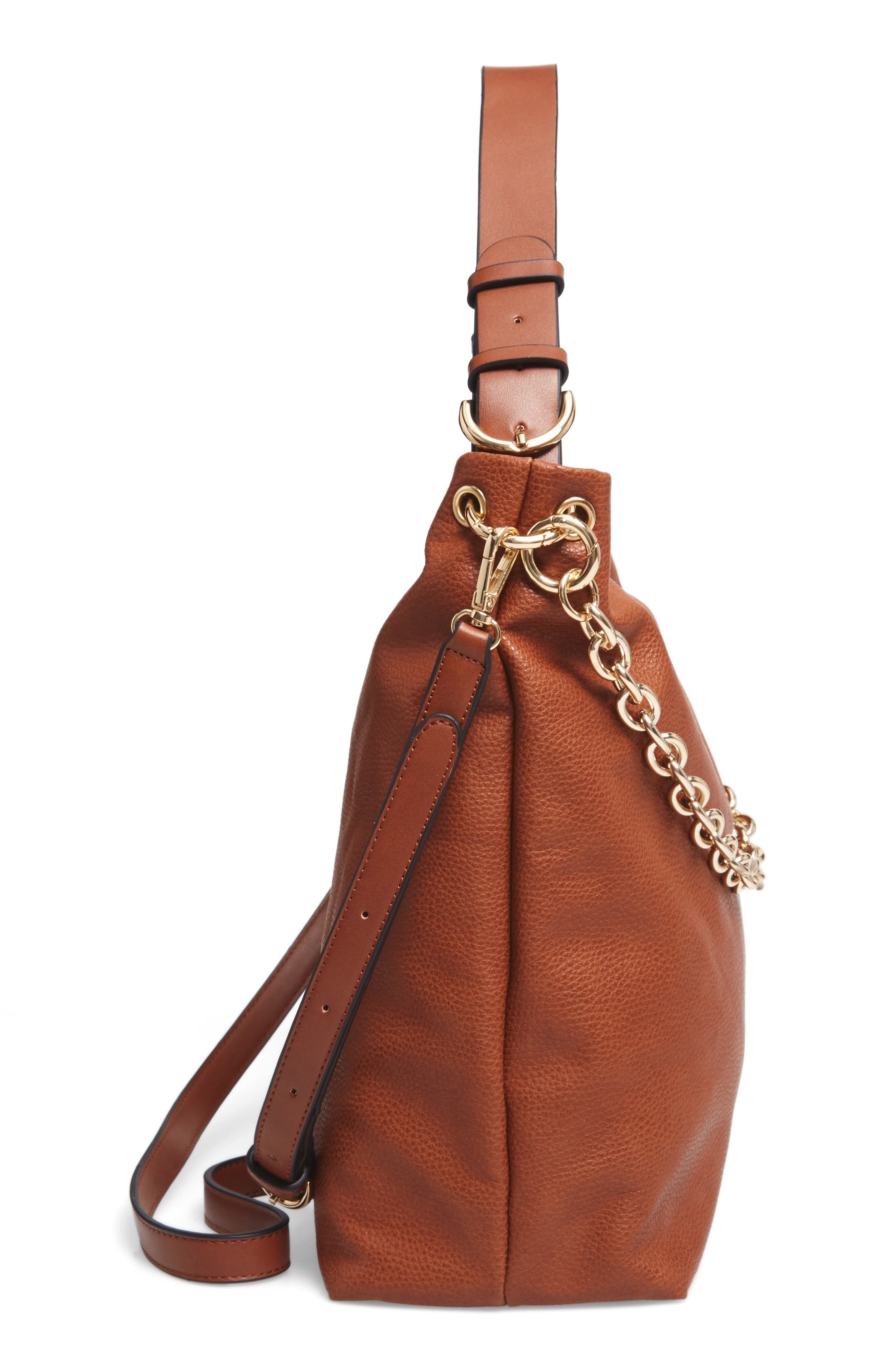 Taylor Faux Leather Shoulder Bag,                             Alternate thumbnail 15, color,