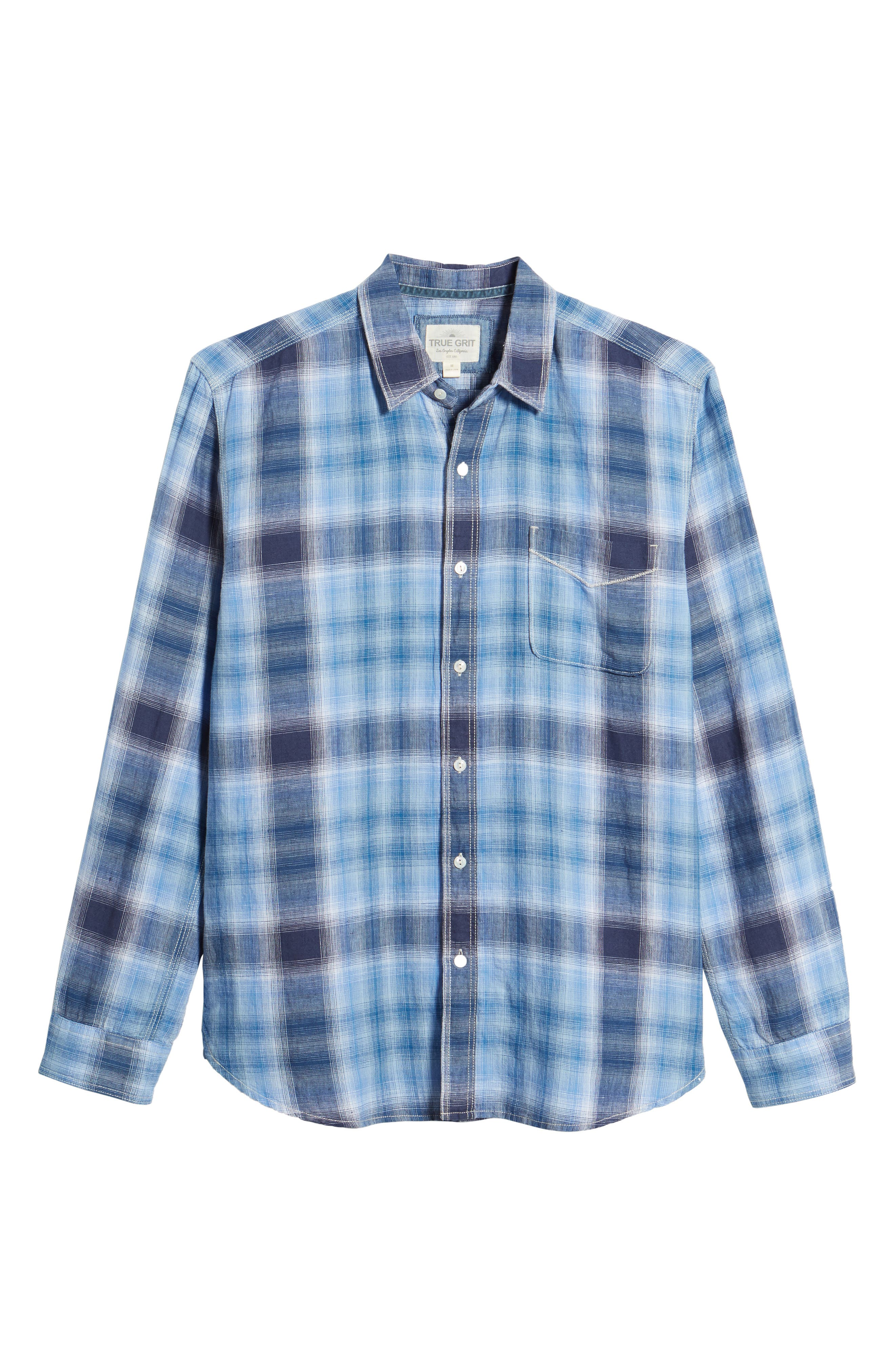 Trestles Linen & Cotton Sport Shirt,                             Alternate thumbnail 6, color,