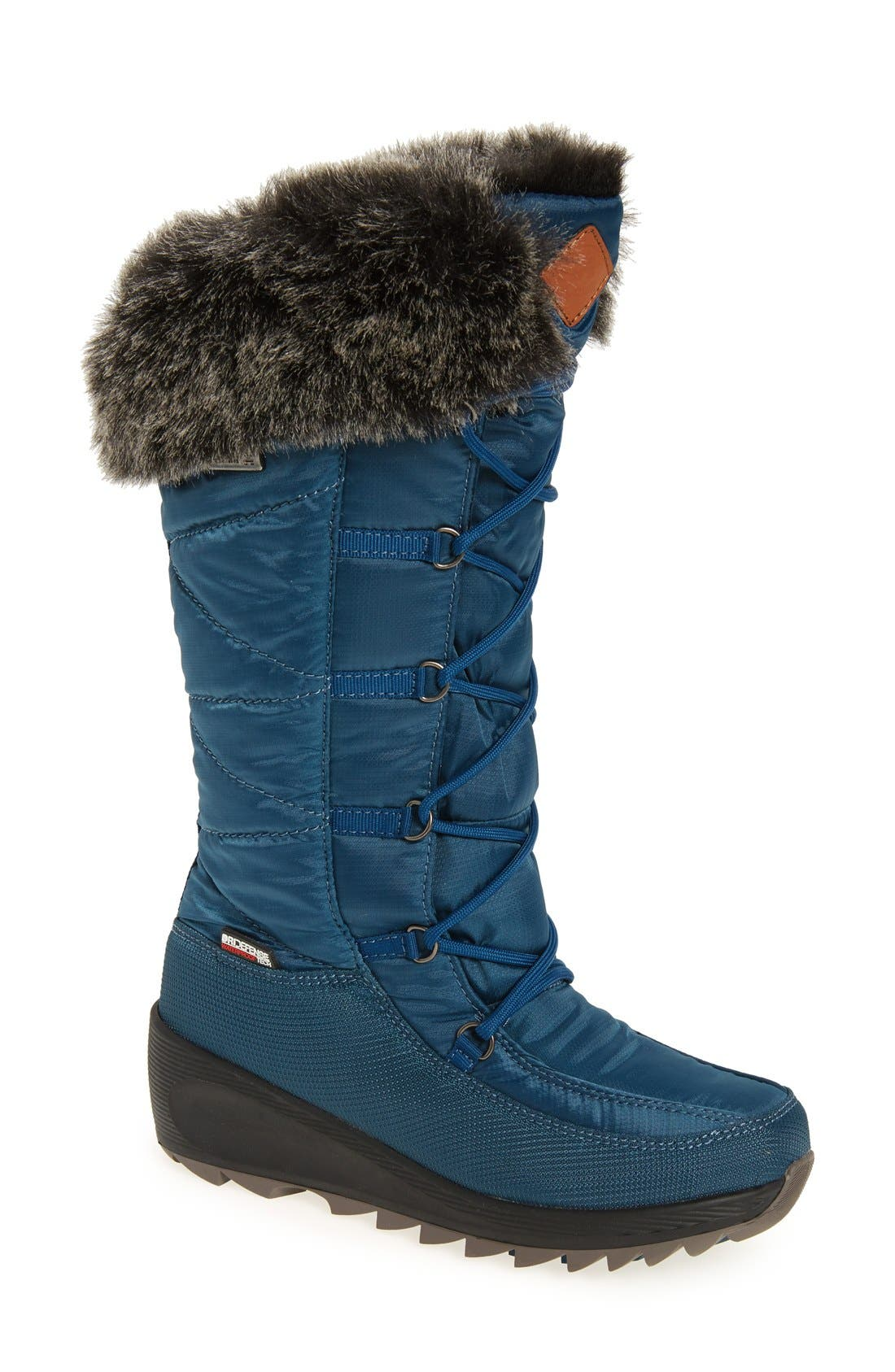 Pinot Waterproof Boot with Faux Fur Cuff,                             Main thumbnail 2, color,