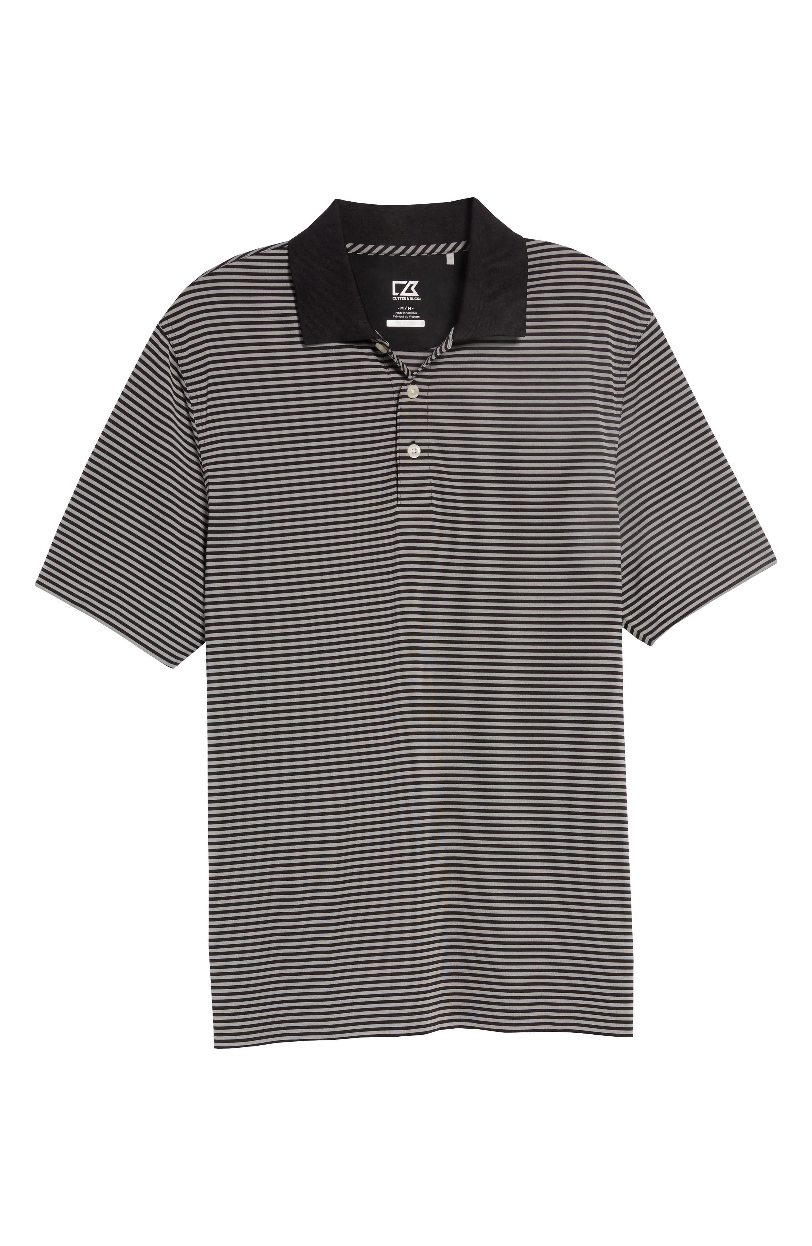 Trevor DryTec Moisture Wicking Golf Polo,                             Alternate thumbnail 6, color,                             BLACK/ OXIDE
