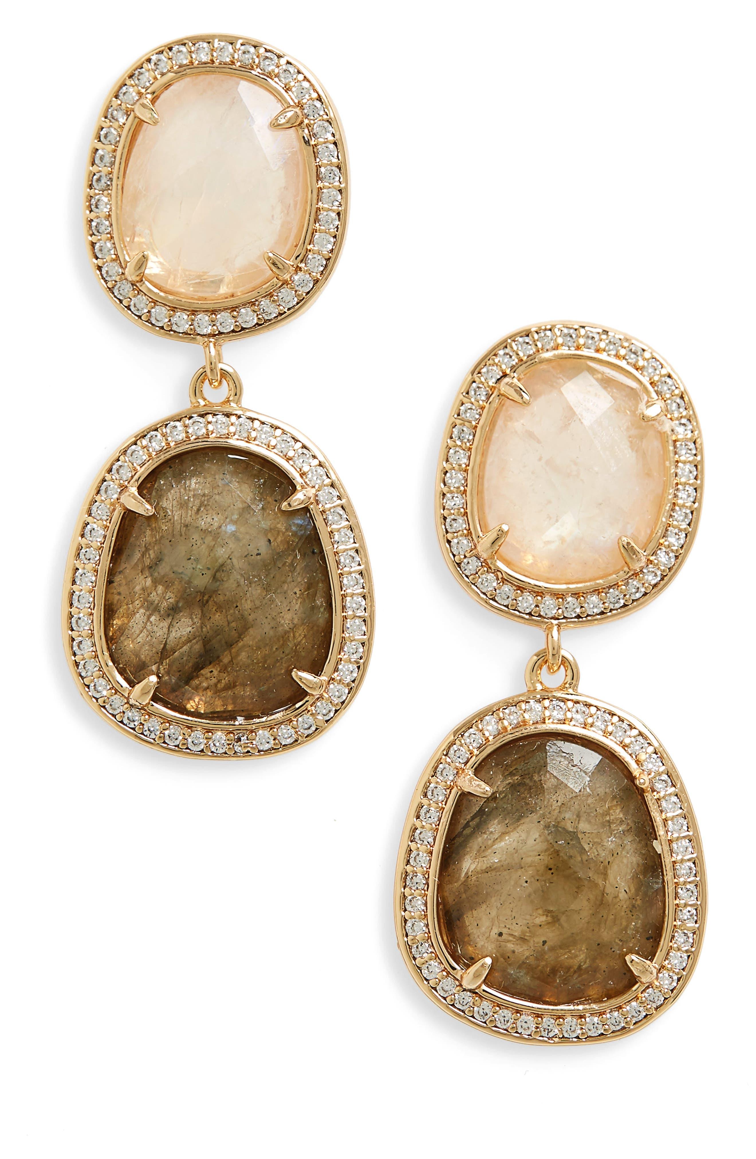 Double Drop Earrings,                             Main thumbnail 1, color,                             200