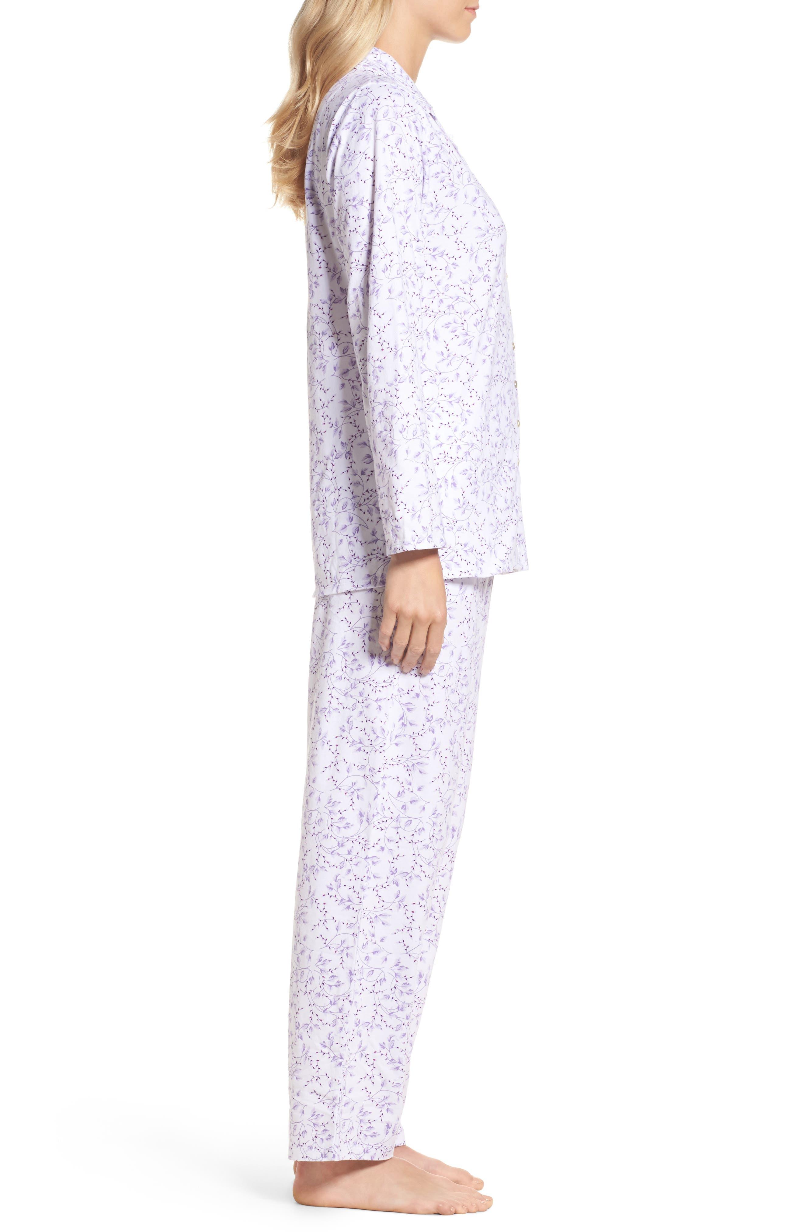 Notch Collar Pajamas,                             Alternate thumbnail 3, color,                             110
