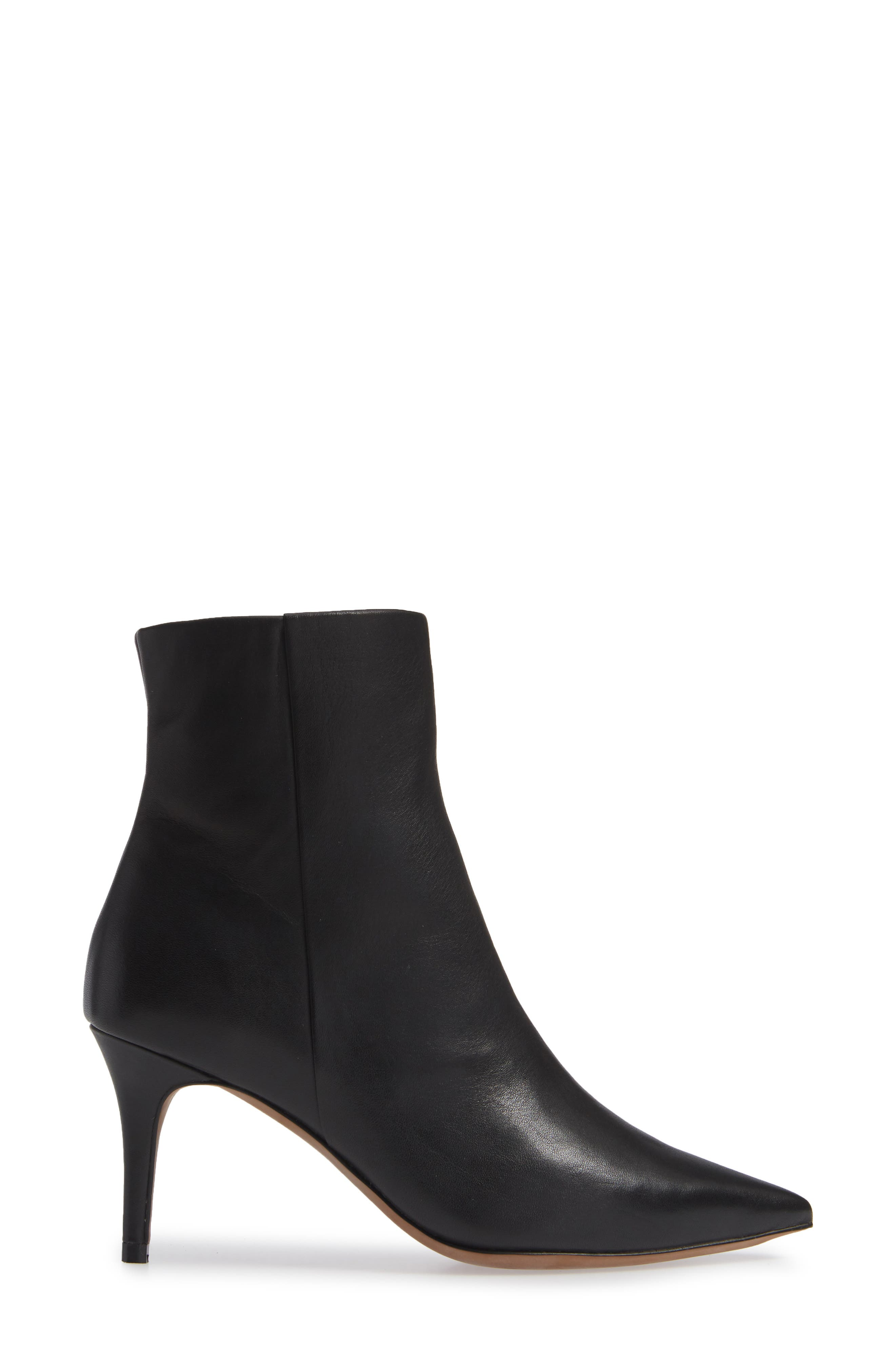 Nita Bootie,                             Alternate thumbnail 3, color,                             BLACK LEATHER