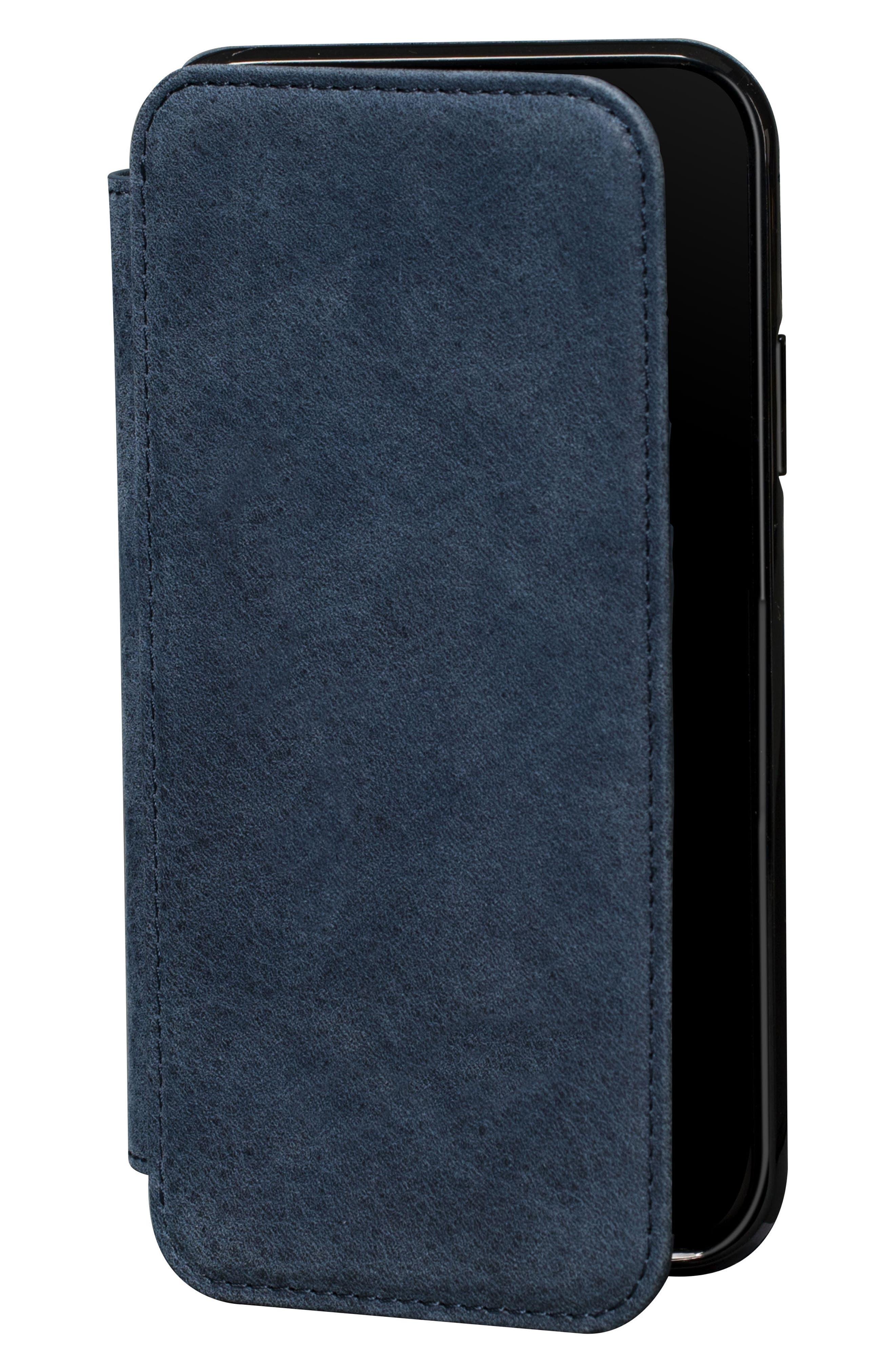 Bence iPhone X & Xs Walletbook,                             Main thumbnail 1, color,                             DENIM