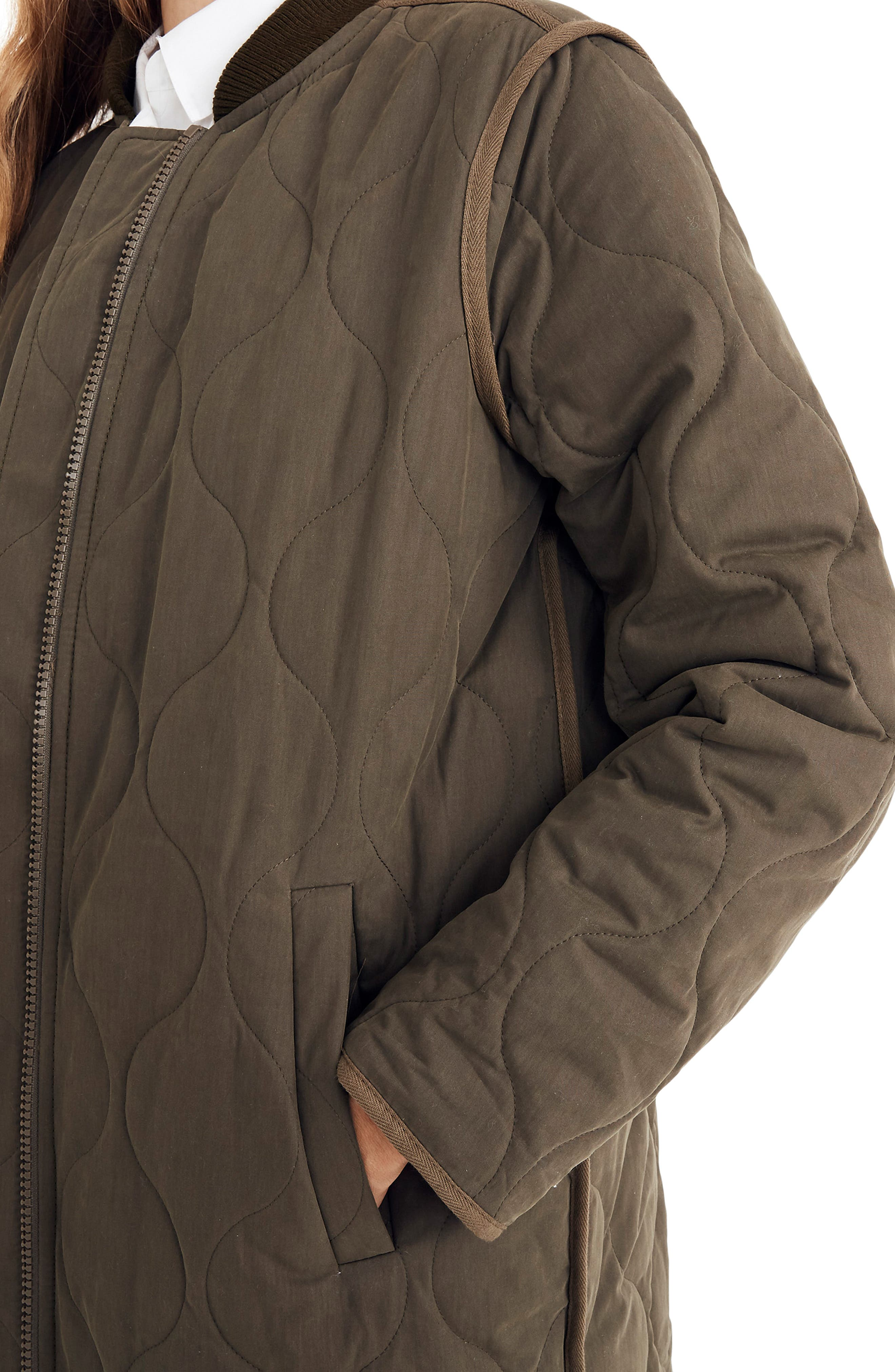 Quilted Military Coat,                             Alternate thumbnail 3, color,                             300