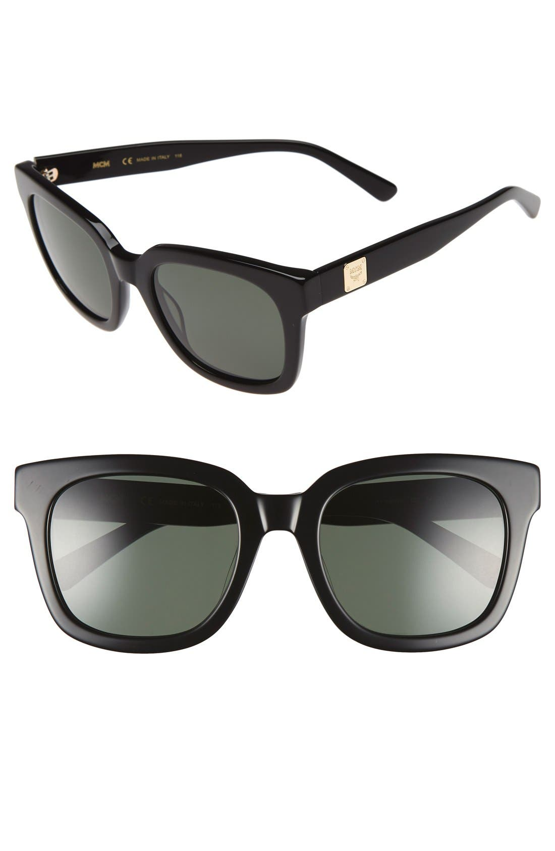 54mm Retro Sunglasses,                             Main thumbnail 1, color,                             001