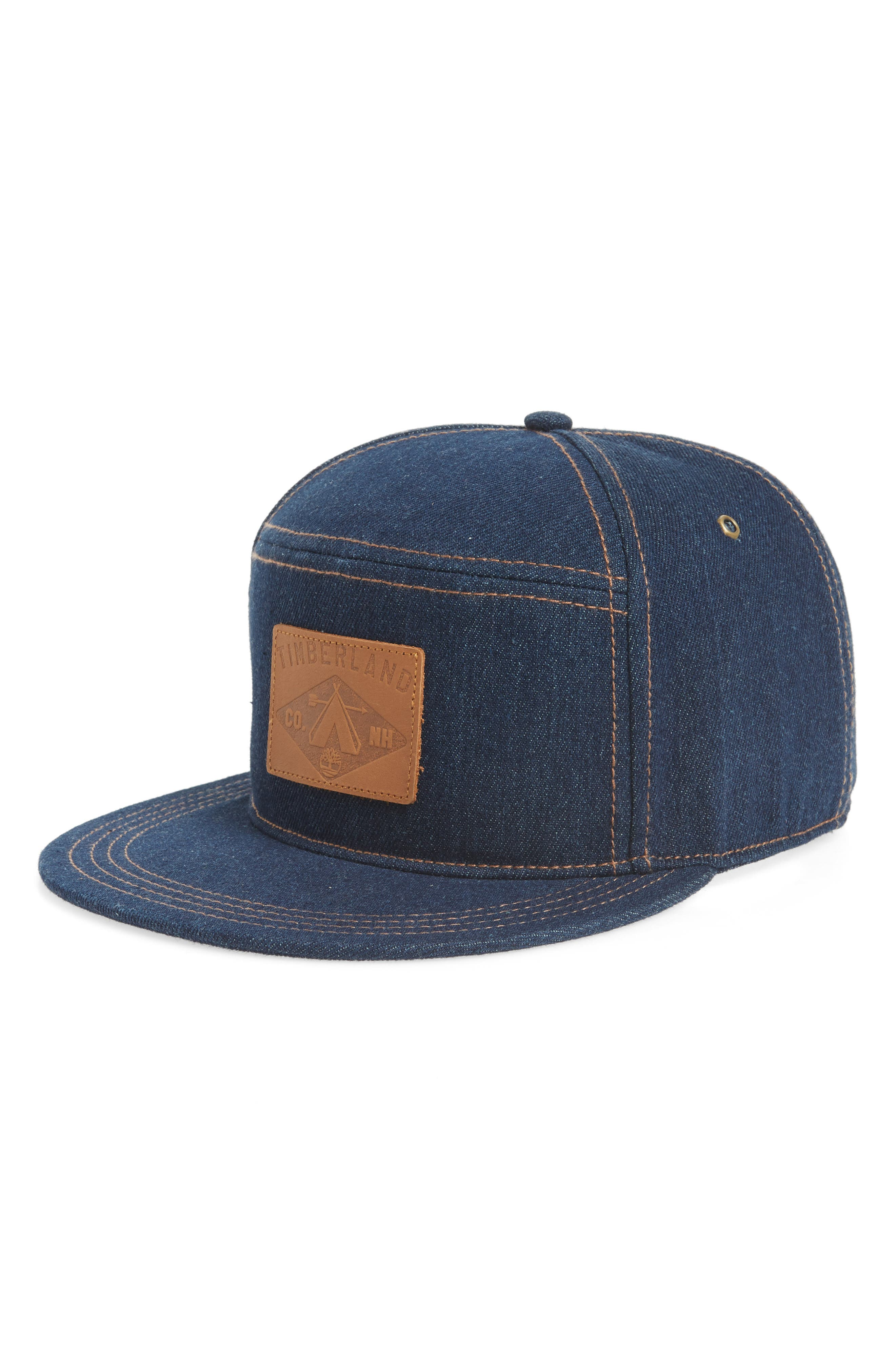 Plum Island Baseball Cap,                         Main,                         color, DARK DENIM