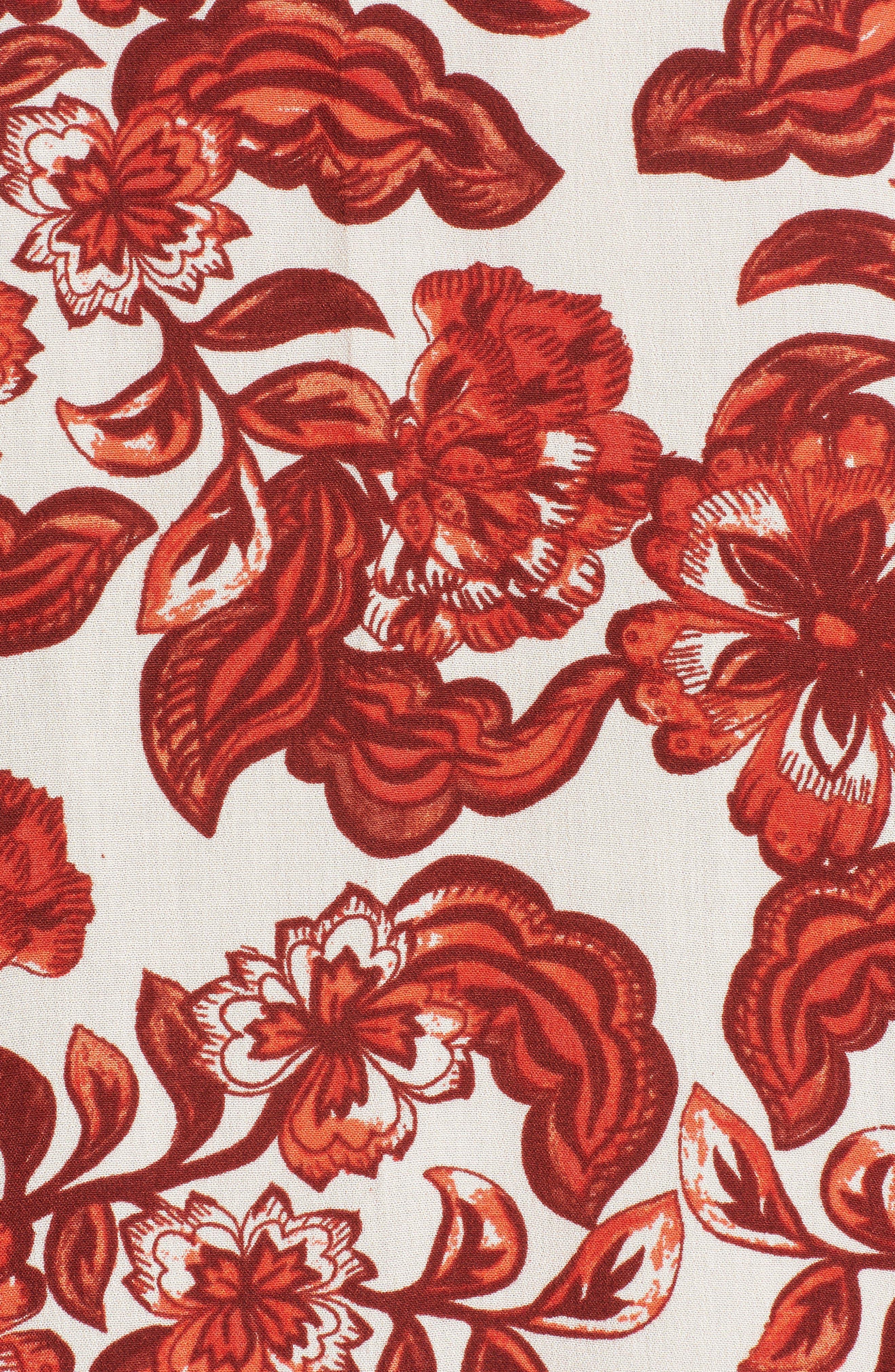 Floral Print Maxi Dress,                             Alternate thumbnail 5, color,                             600