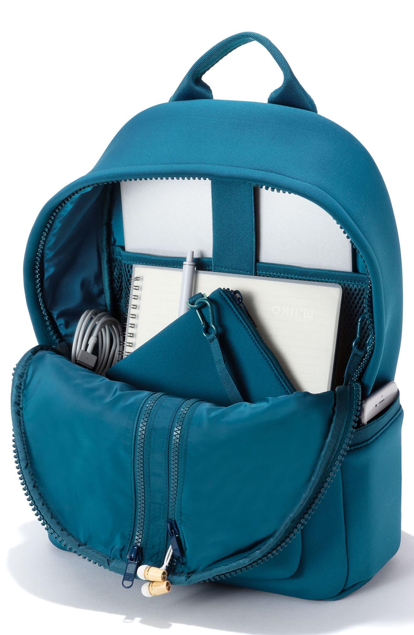 DAGNE DOVER,                             365 Dakota Neoprene Backpack,                             Alternate thumbnail 3, color,                             BAY BLUE