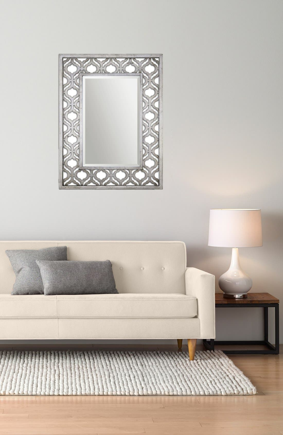 'Sorbolo' Silver Leaf Mirror,                             Alternate thumbnail 2, color,