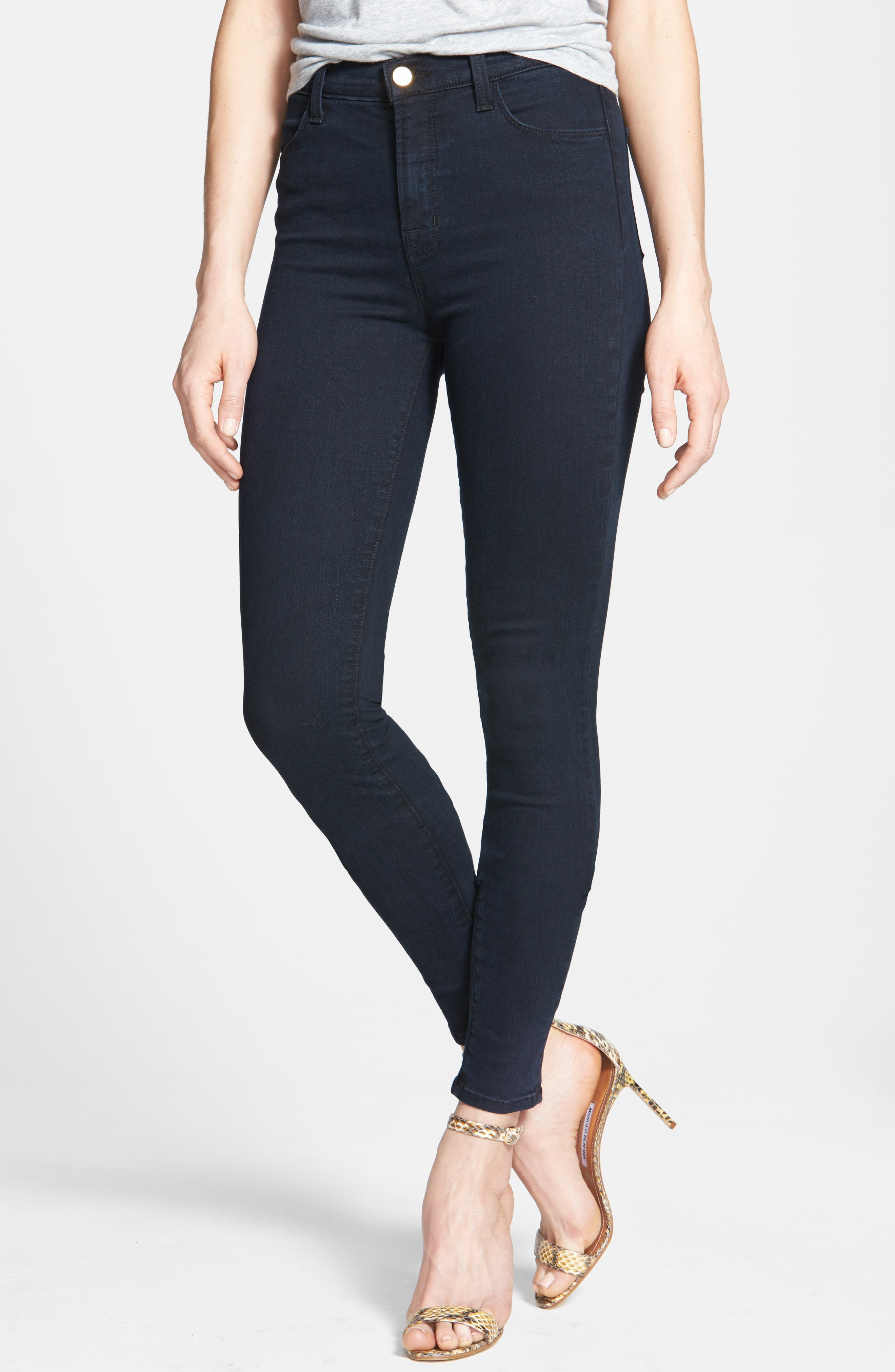 2311 Maria High Waist Super Skinny Jeans,                             Alternate thumbnail 2, color,                             BLUE BIRD