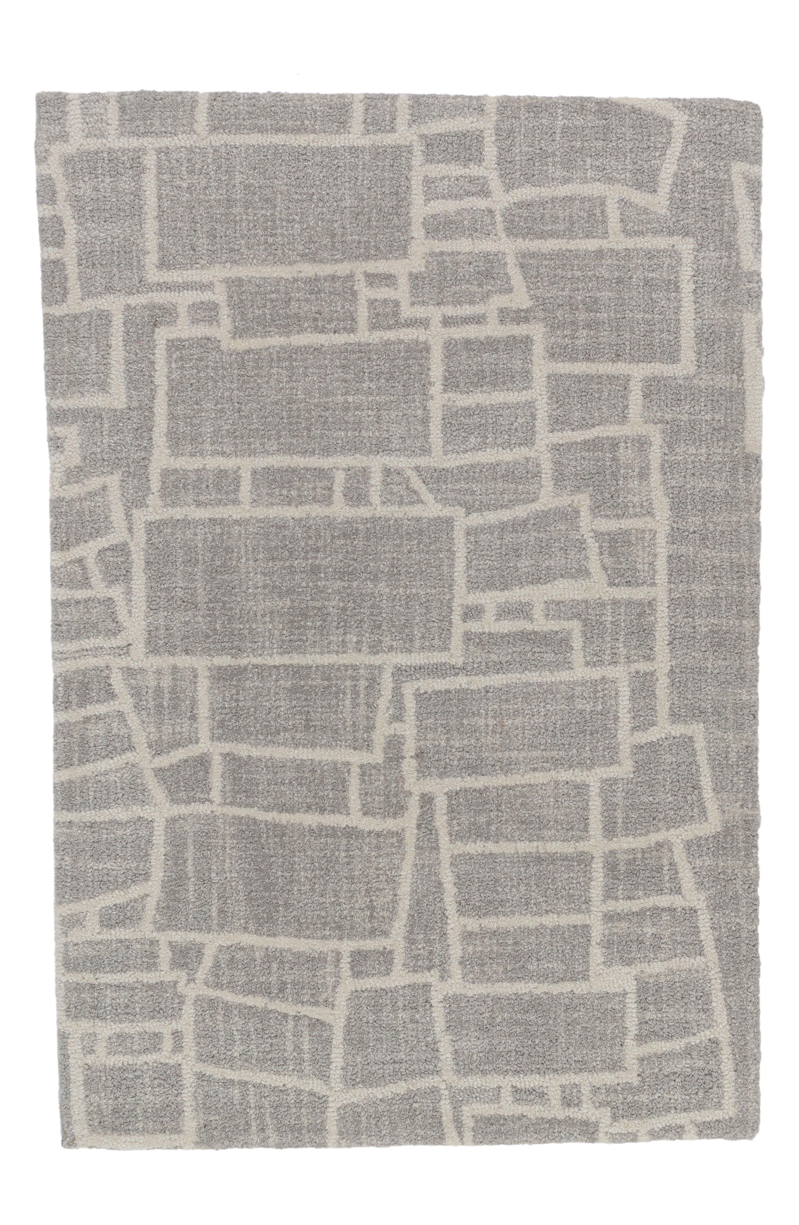 Lloyd Micro Hooked Wool Rug,                             Main thumbnail 1, color,                             GREY