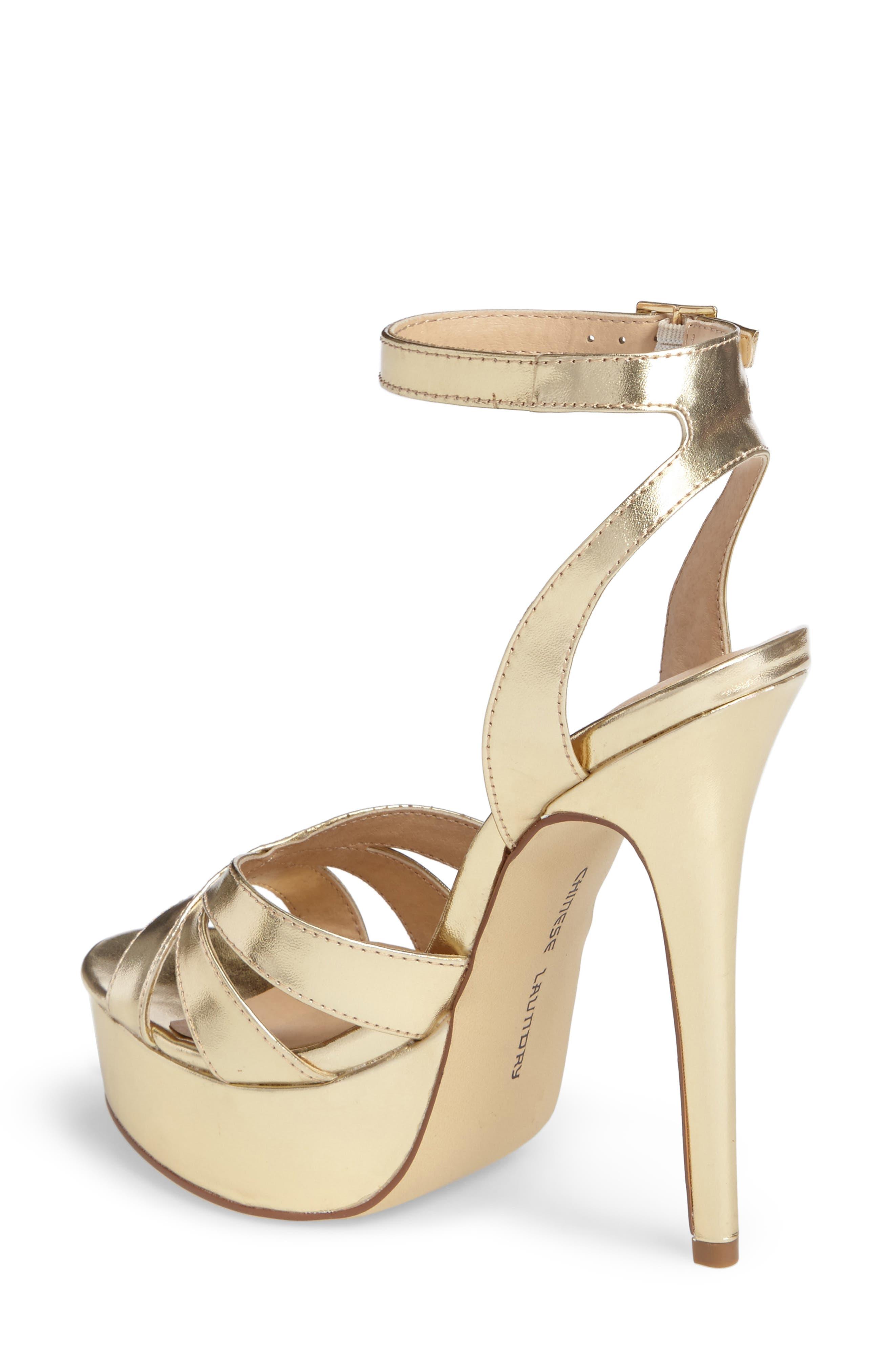 Alyssa Strappy Platform Sandal,                             Alternate thumbnail 4, color,
