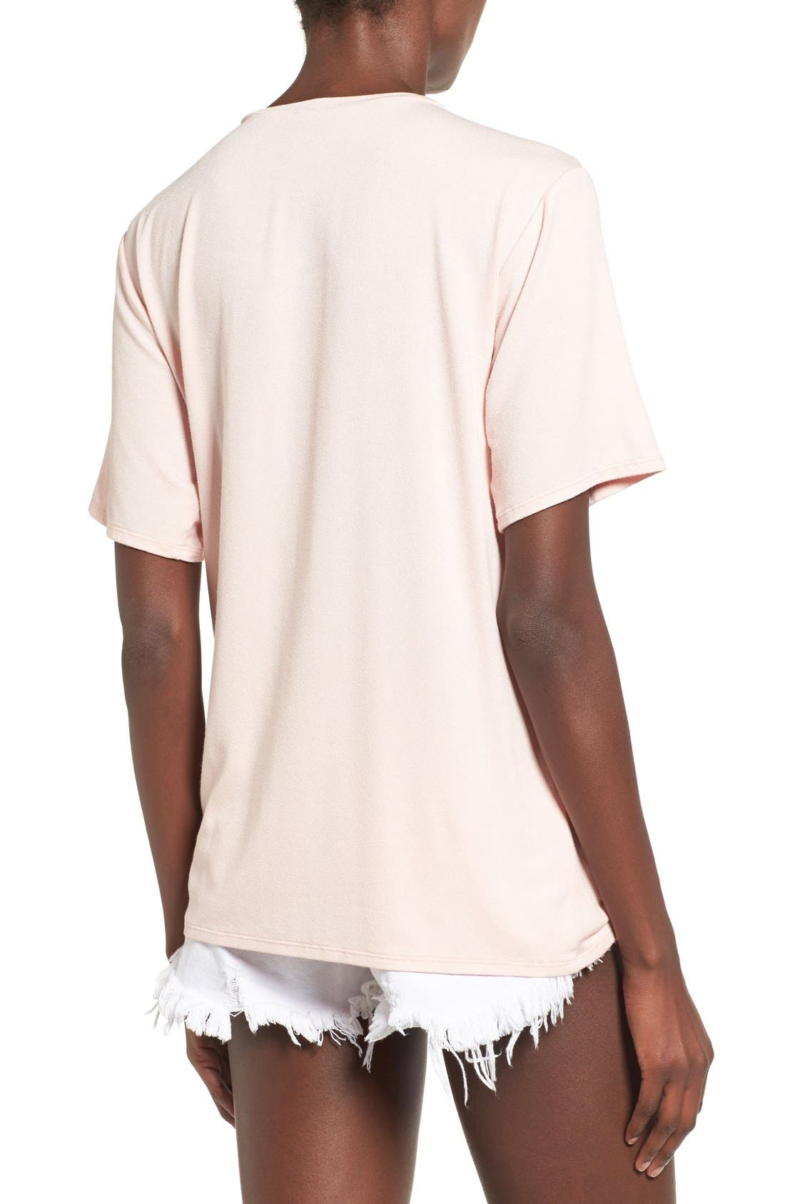 Knot Front Tee,                             Alternate thumbnail 5, color,
