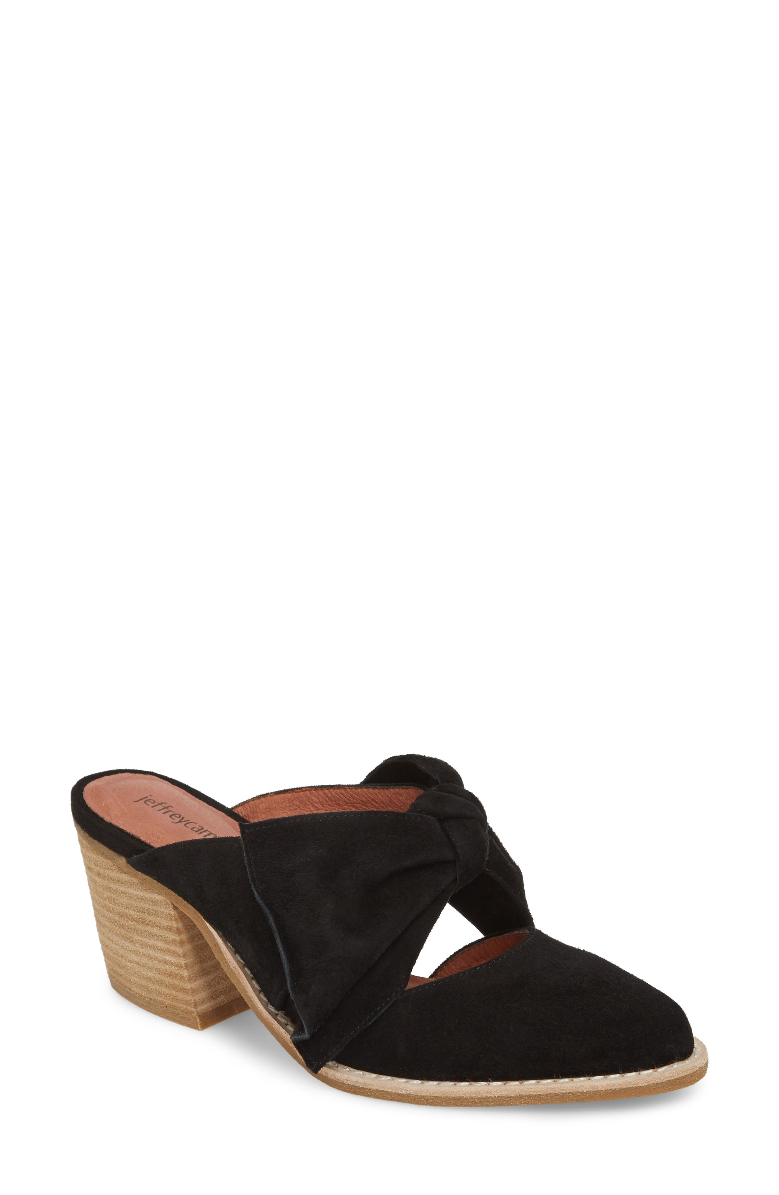 JEFFREY CAMPBELL,                             Cyrus Knotted Mary Jane Mule,                             Main thumbnail 1, color,                             001