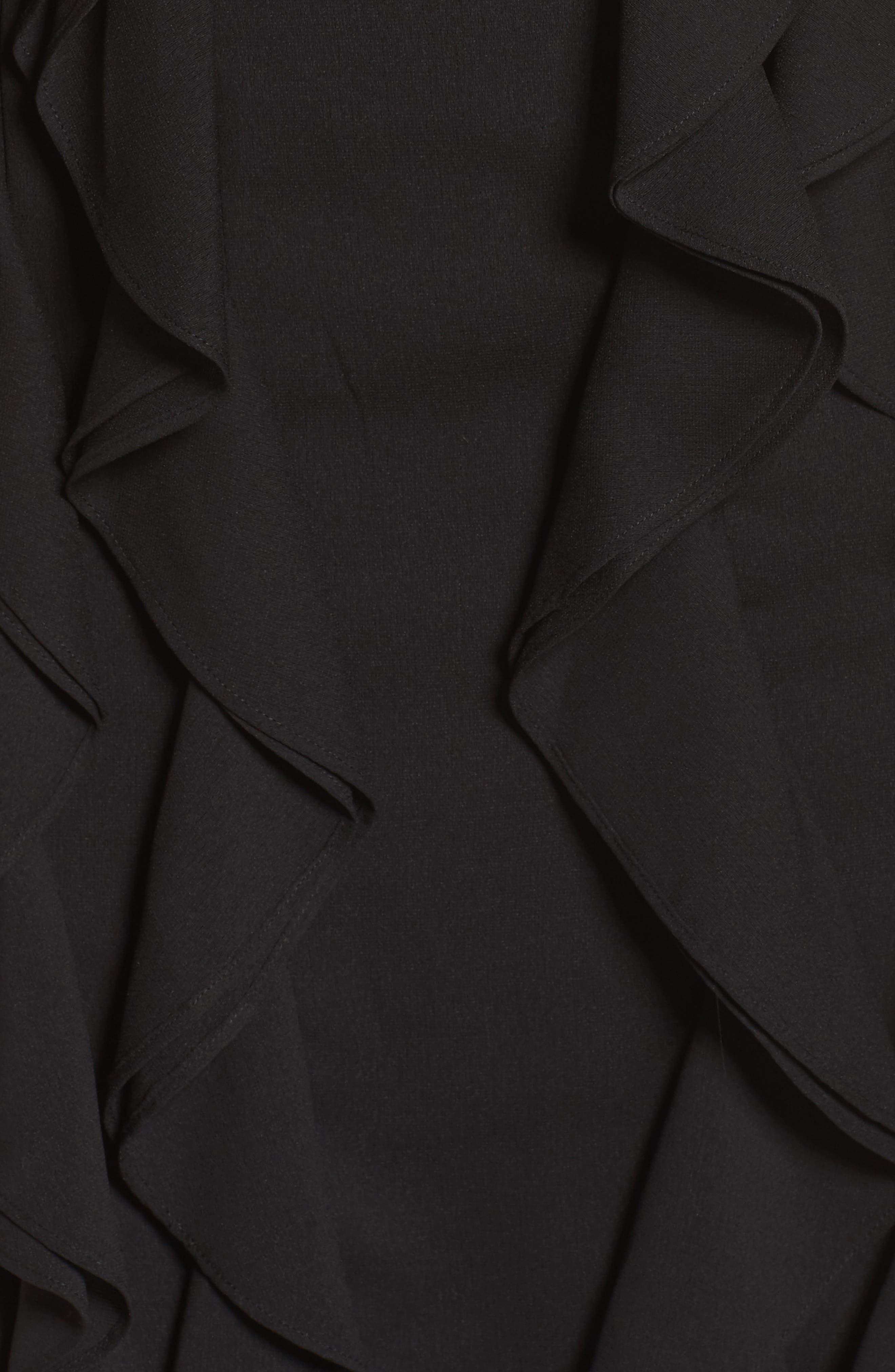 Dream State Off the Shoulder Sheath Dress,                             Alternate thumbnail 5, color,                             001