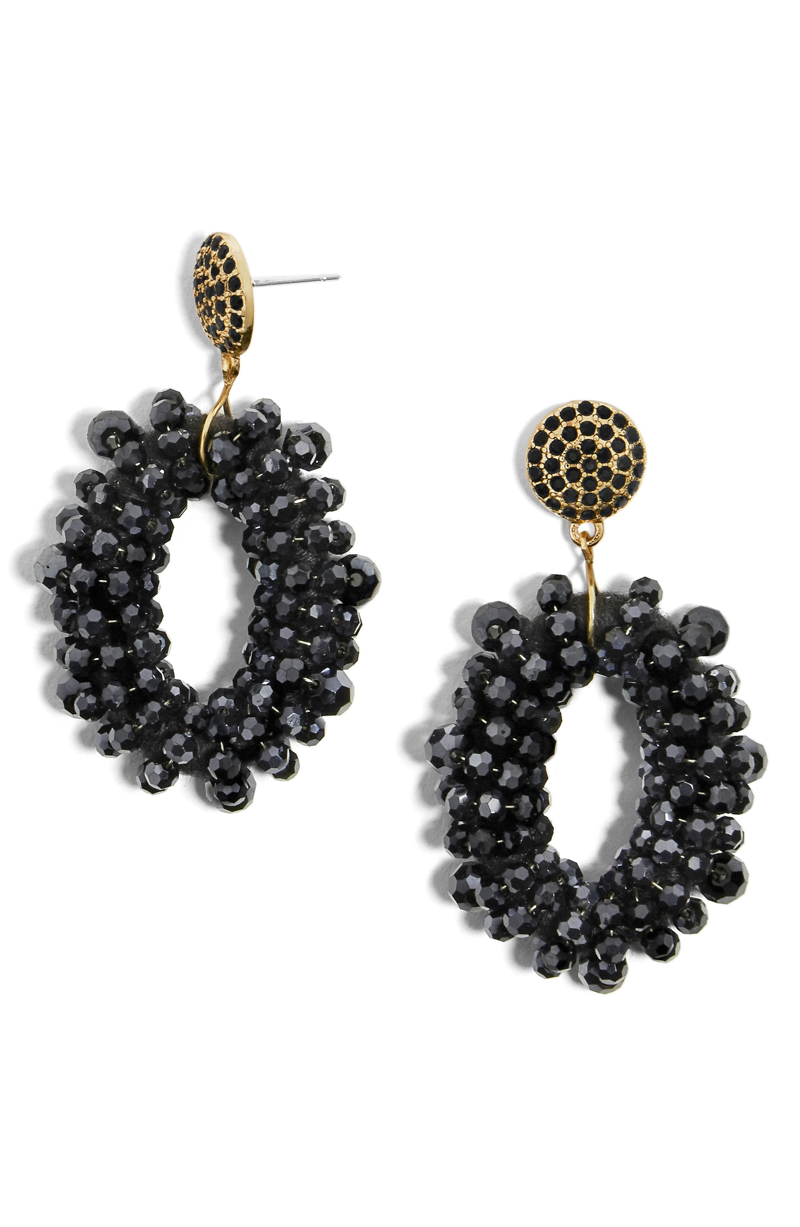 Eve Beaded Drop Earrings,                             Main thumbnail 1, color,                             001