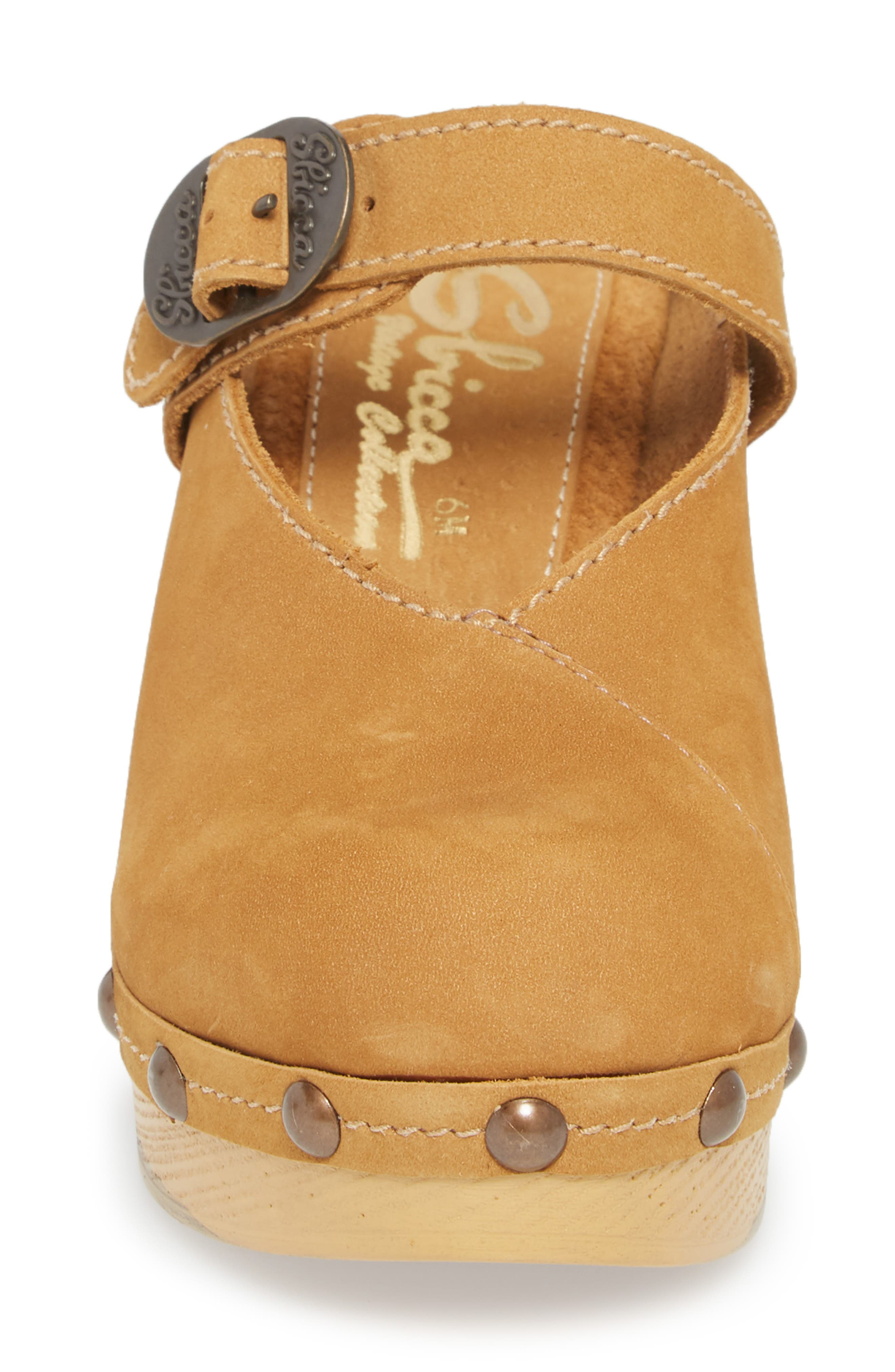 Natacha Studded Mary Jane Clog,                             Alternate thumbnail 4, color,                             TAN