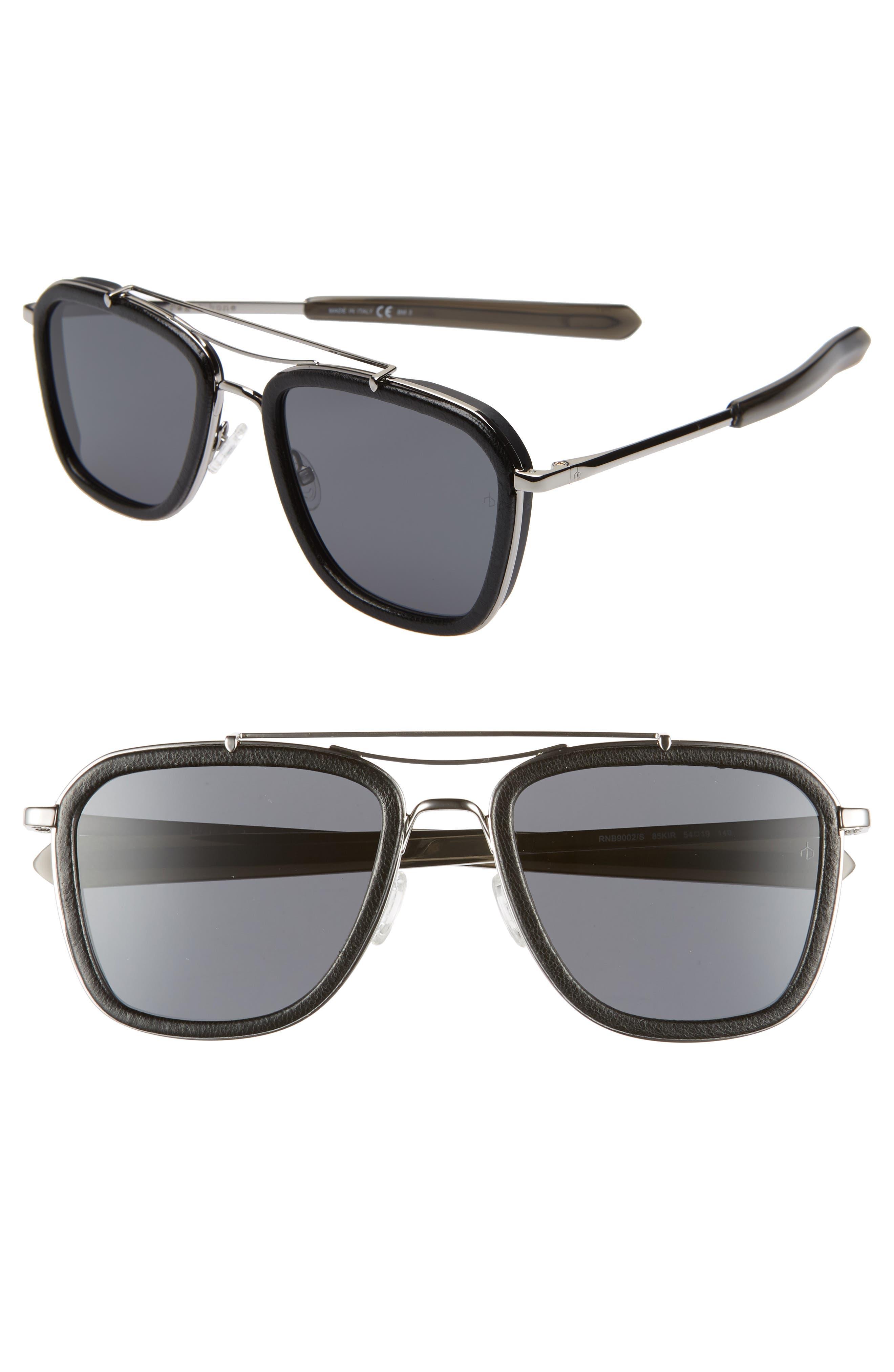 Phantom 54mm Aviator Sunglasses,                             Main thumbnail 1, color,                             RUTHENIUM/ BLACK