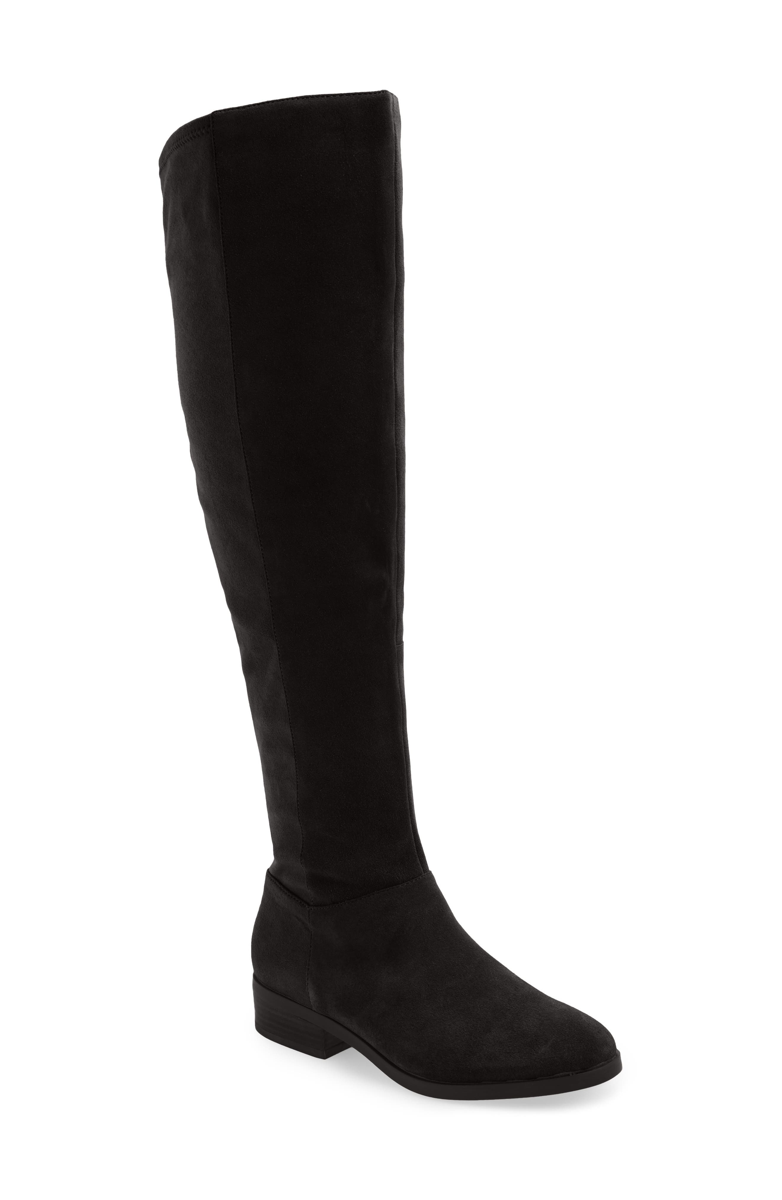 SOLE SOCIETY,                             Kinney Over the Knee Boot,                             Main thumbnail 1, color,                             003