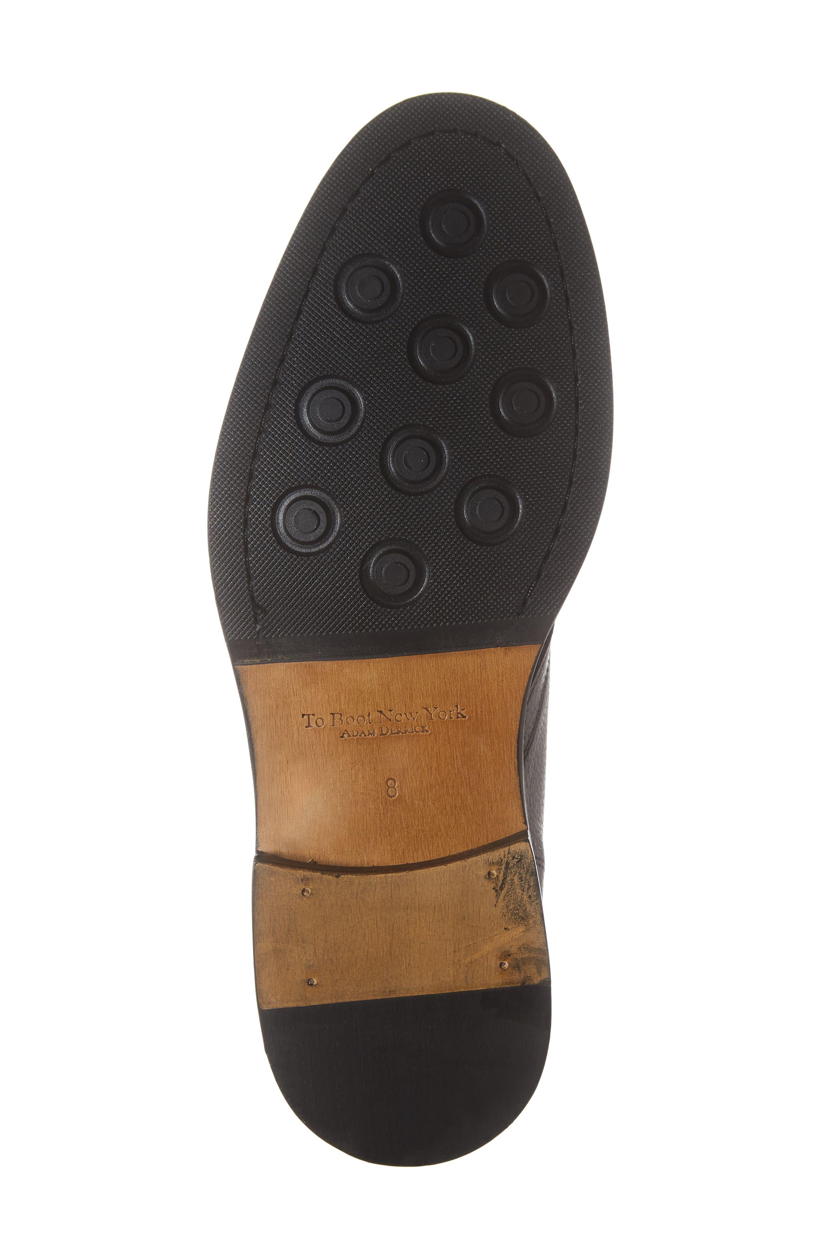 Bruin Plain Toe Chukka Boot,                             Alternate thumbnail 6, color,                             VITELLO STOMPA NERO LEATHER