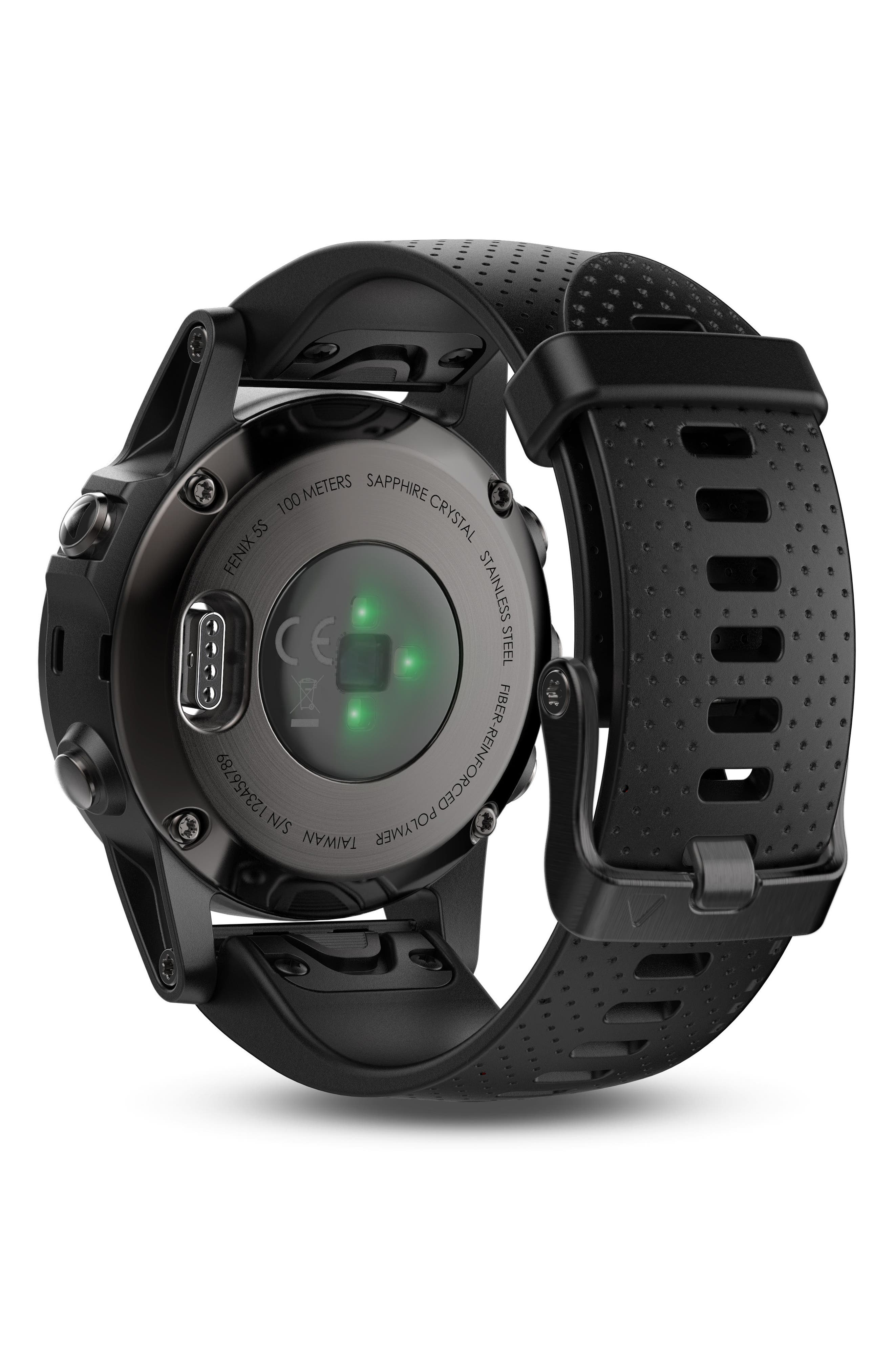 fenix<sup>®</sup> 5S Sapphire Premium Multisport GPS Watch, 42mm,                             Alternate thumbnail 2, color,                             001