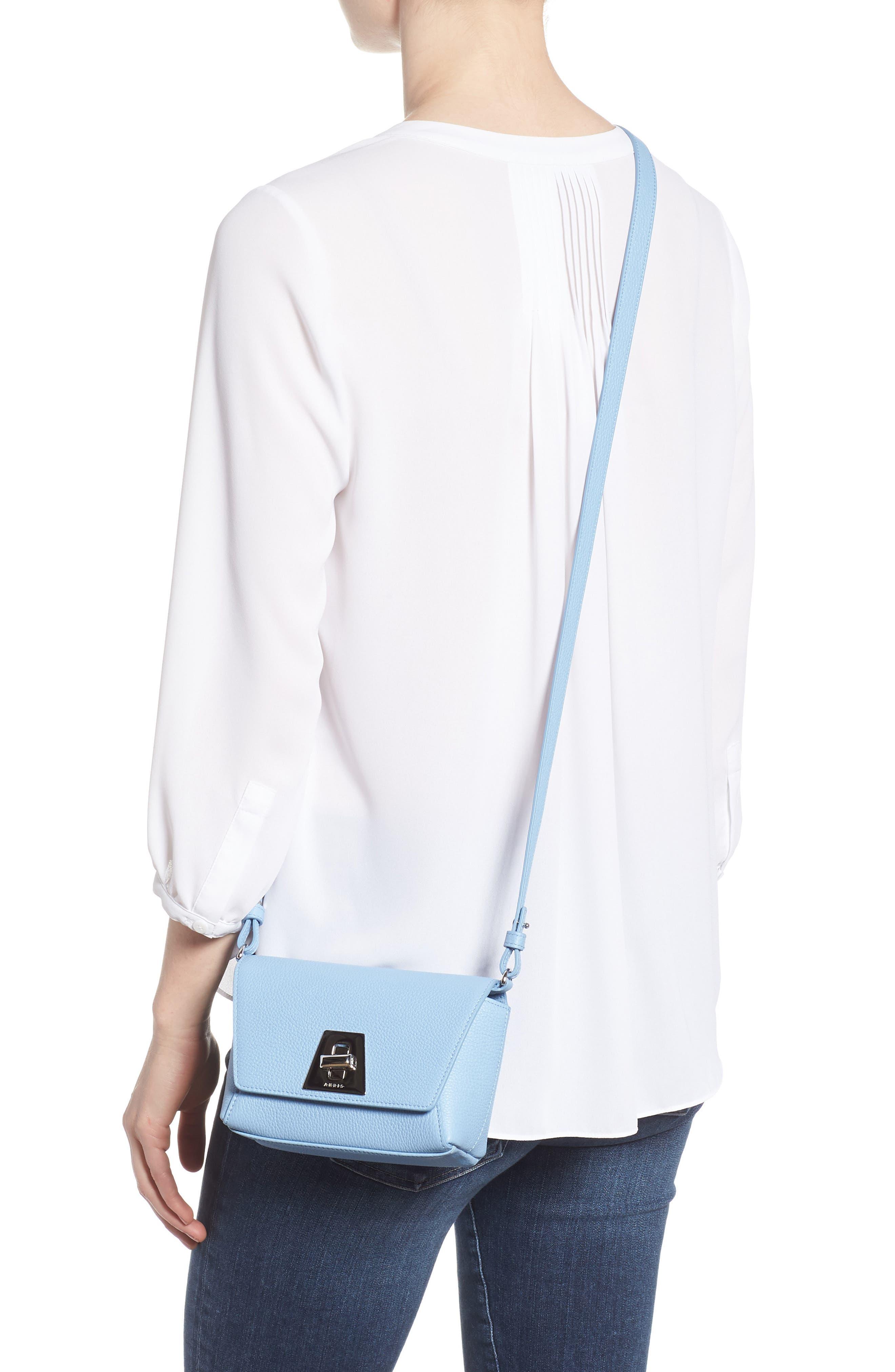 Little Anouk Calfskin Crossbody Bag,                             Alternate thumbnail 2, color,                             POWDER BLUE