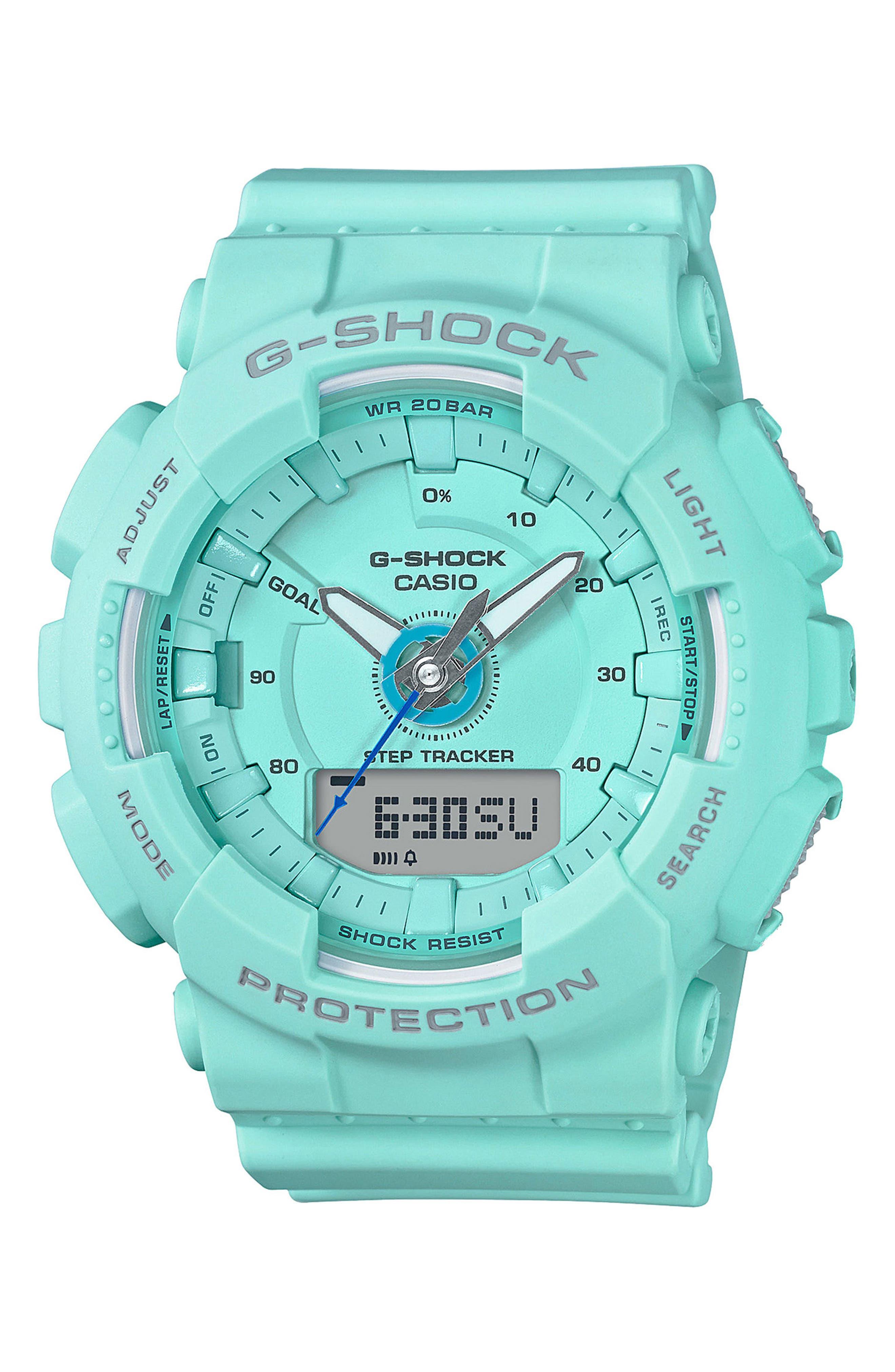 S-Series Resin Ana-Digi Watch, 46mm,                             Main thumbnail 1, color,                             BLUE