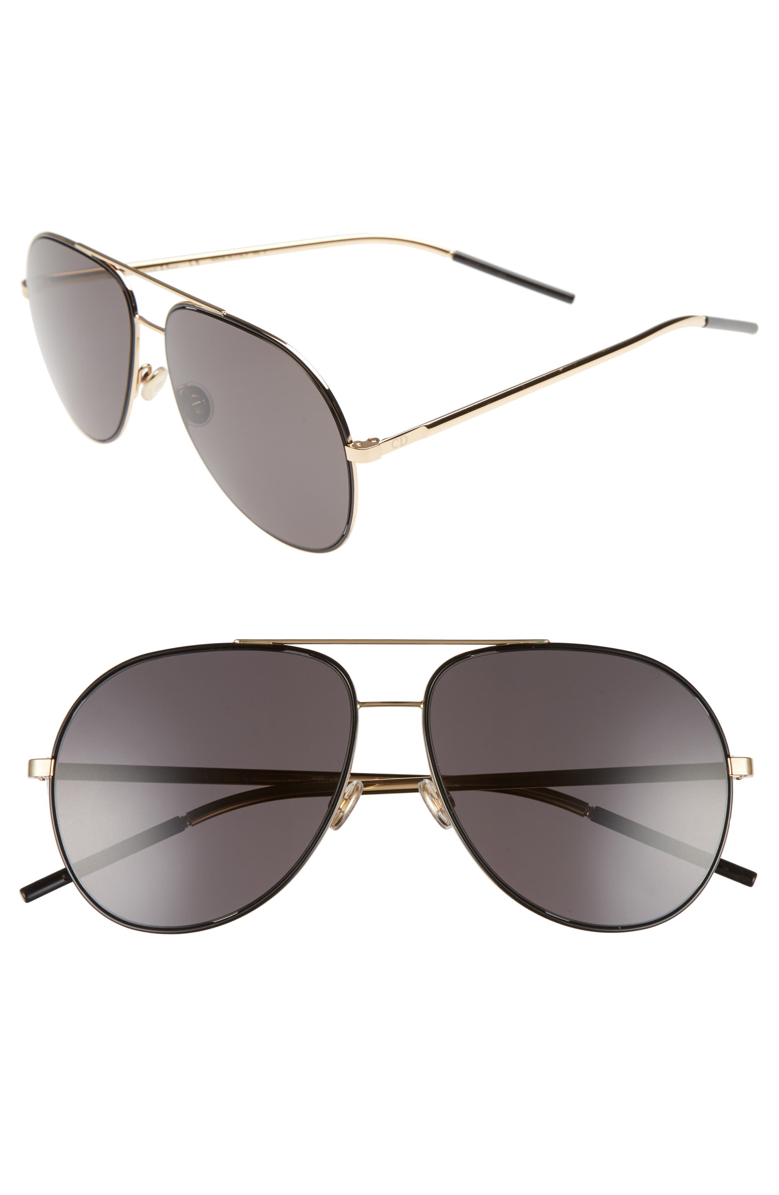 Astrals 59mm Aviator Sunglasses,                         Main,                         color, 001