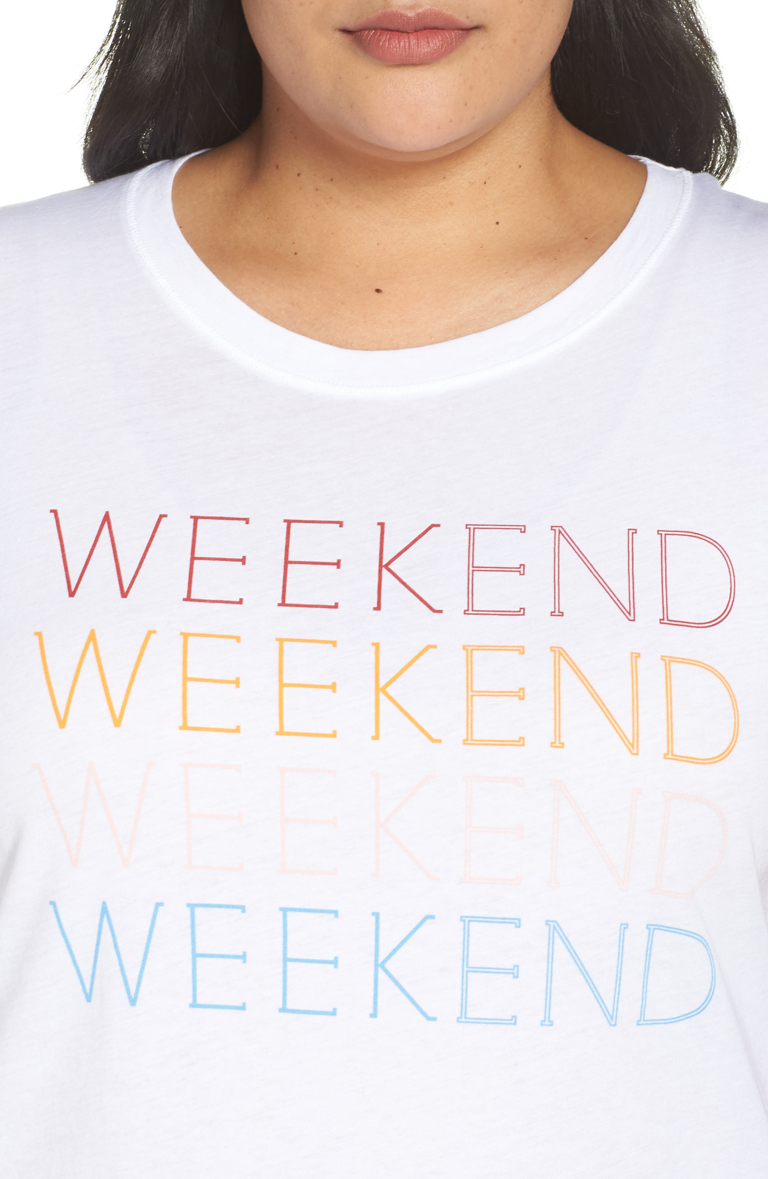 Weekend Graphic Tee,                             Alternate thumbnail 9, color,                             100