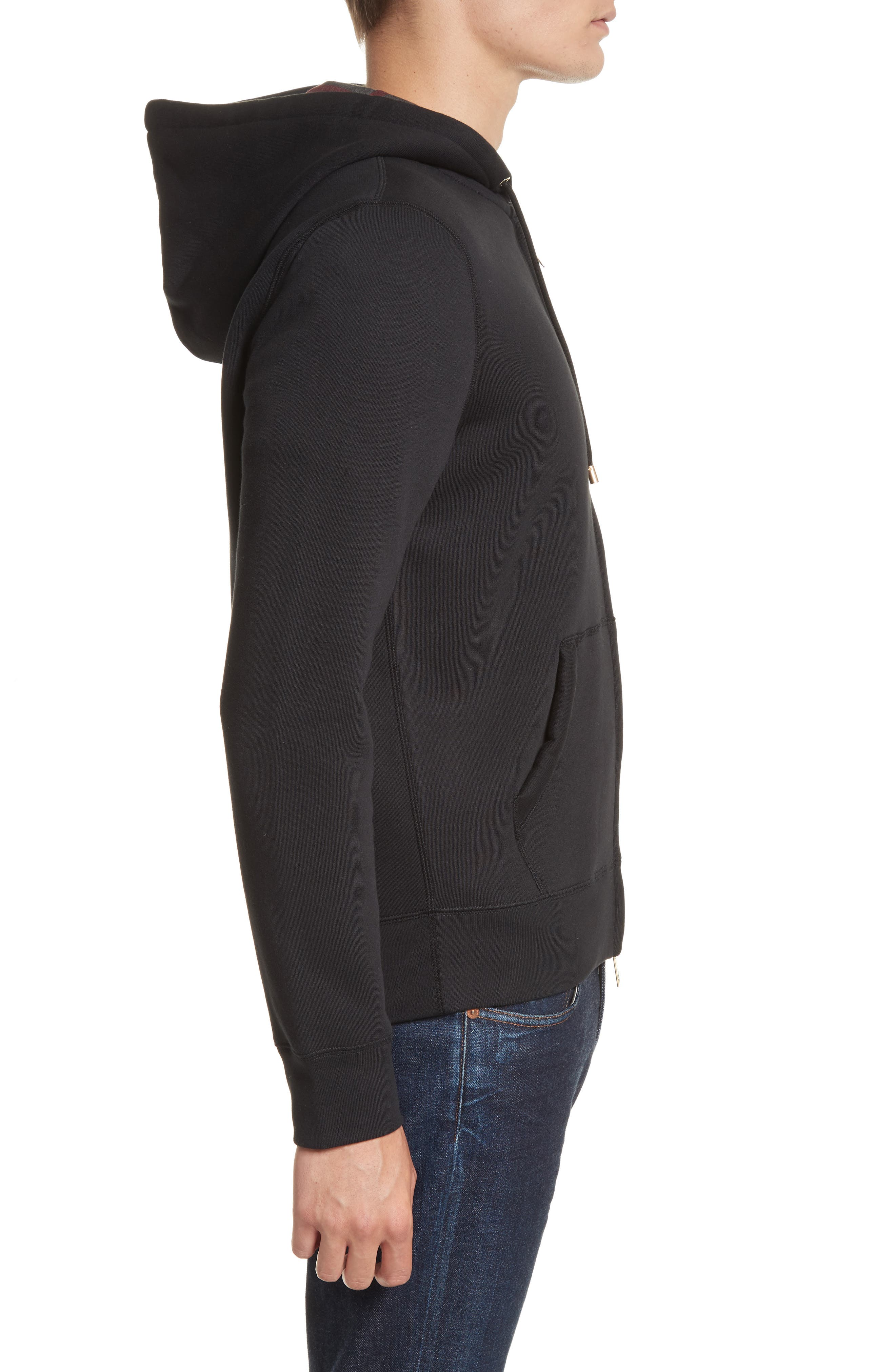 Claredon Regular Fit Zip Hoodie,                             Alternate thumbnail 3, color,                             001