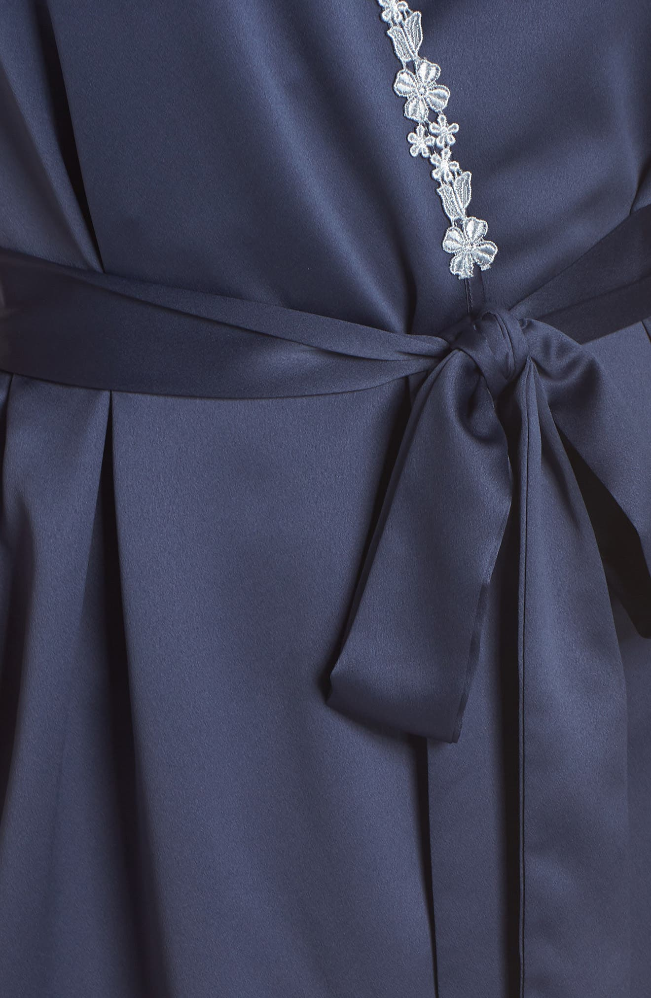 FLORA NIKROOZ,                             Showstopper Robe,                             Alternate thumbnail 5, color,                             NAVY