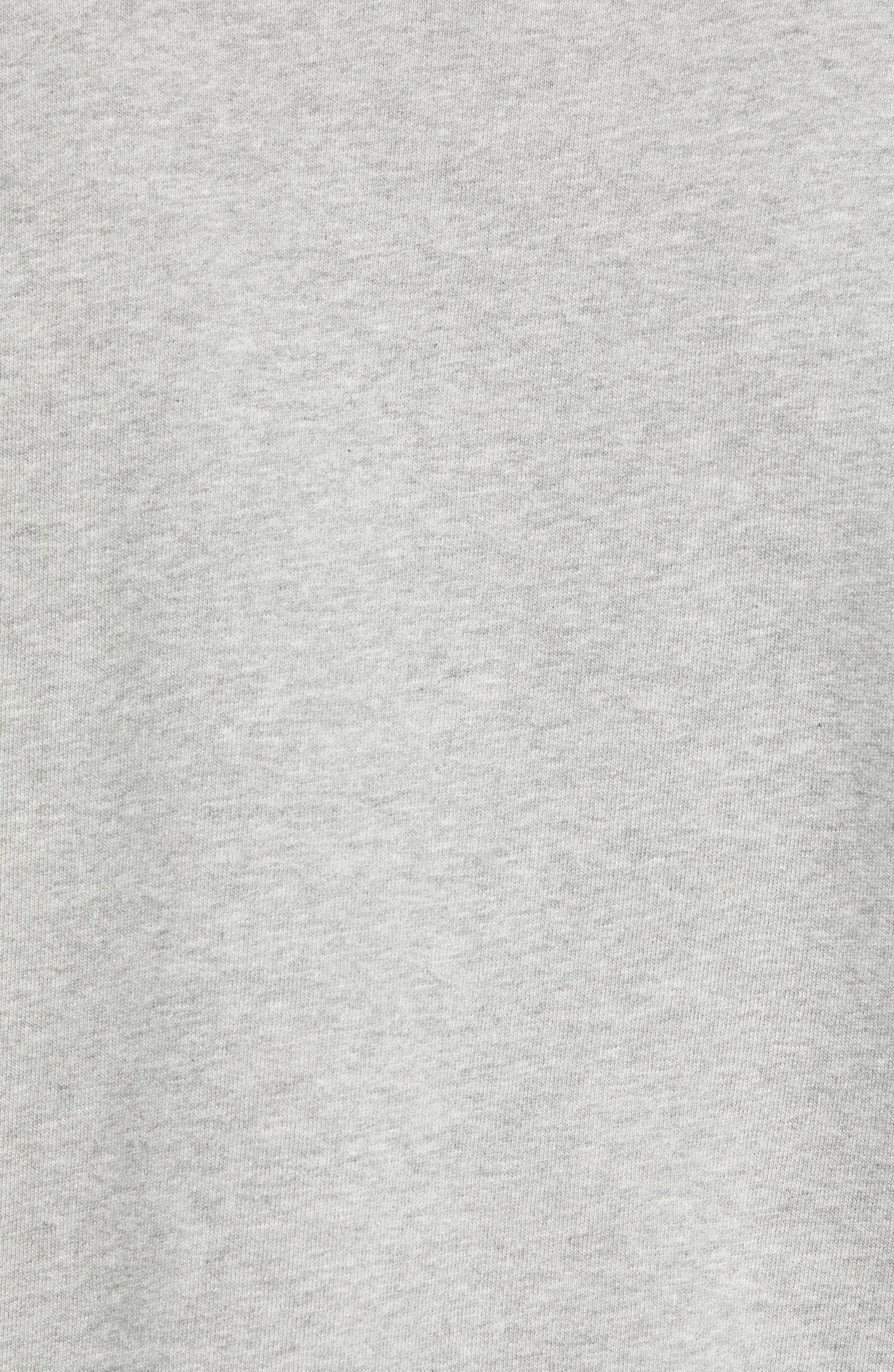 Aim French Terry Raglan Sweatshirt,                             Alternate thumbnail 5, color,                             GREY MELANGE