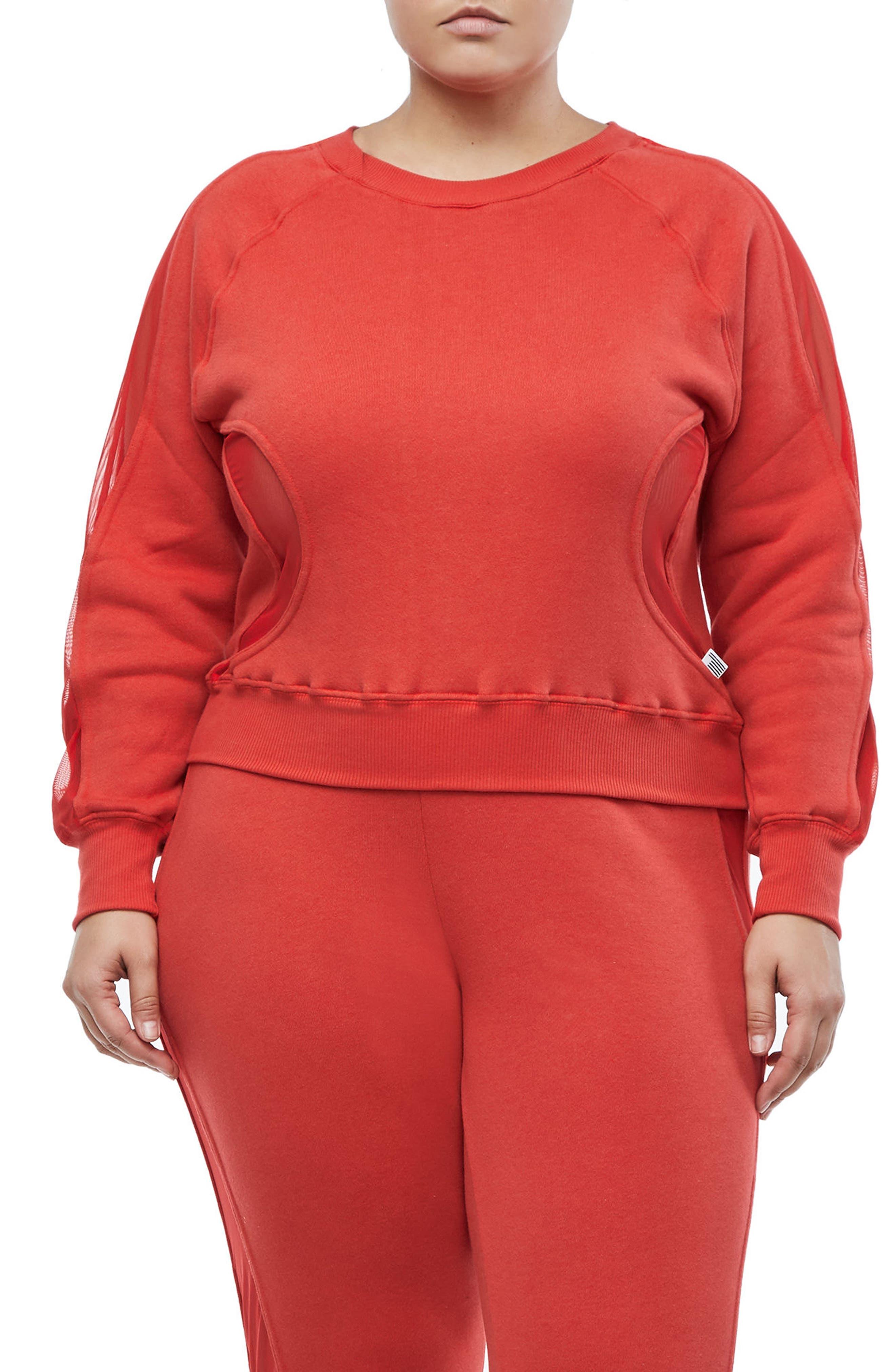 Good Sweats Mesh Inset Sweatshirt,                             Main thumbnail 2, color,