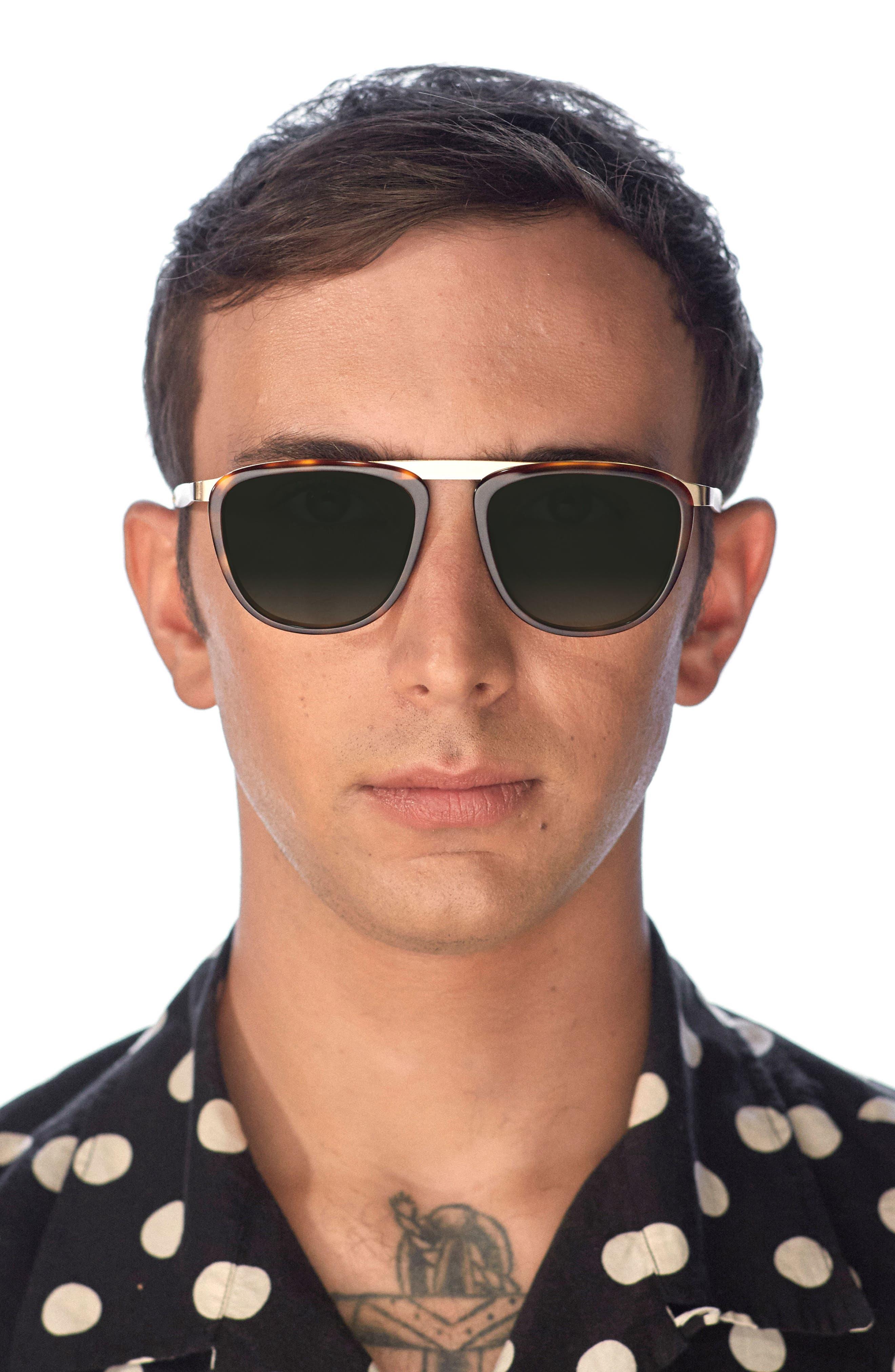 Pusherman 52mm Retro Sunglasses,                             Alternate thumbnail 4, color,                             200