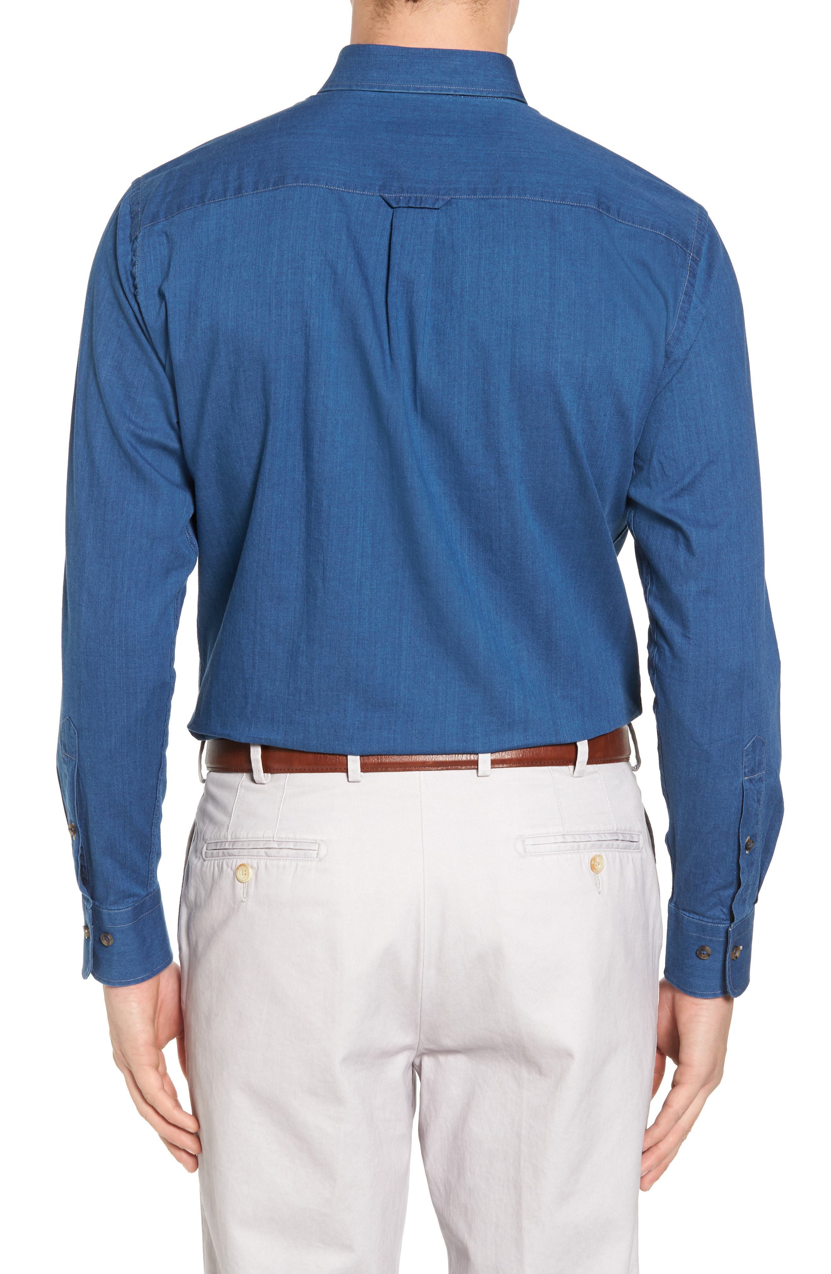Crown Vintage Regular Fit Denim Sport Shirt,                             Alternate thumbnail 2, color,                             405