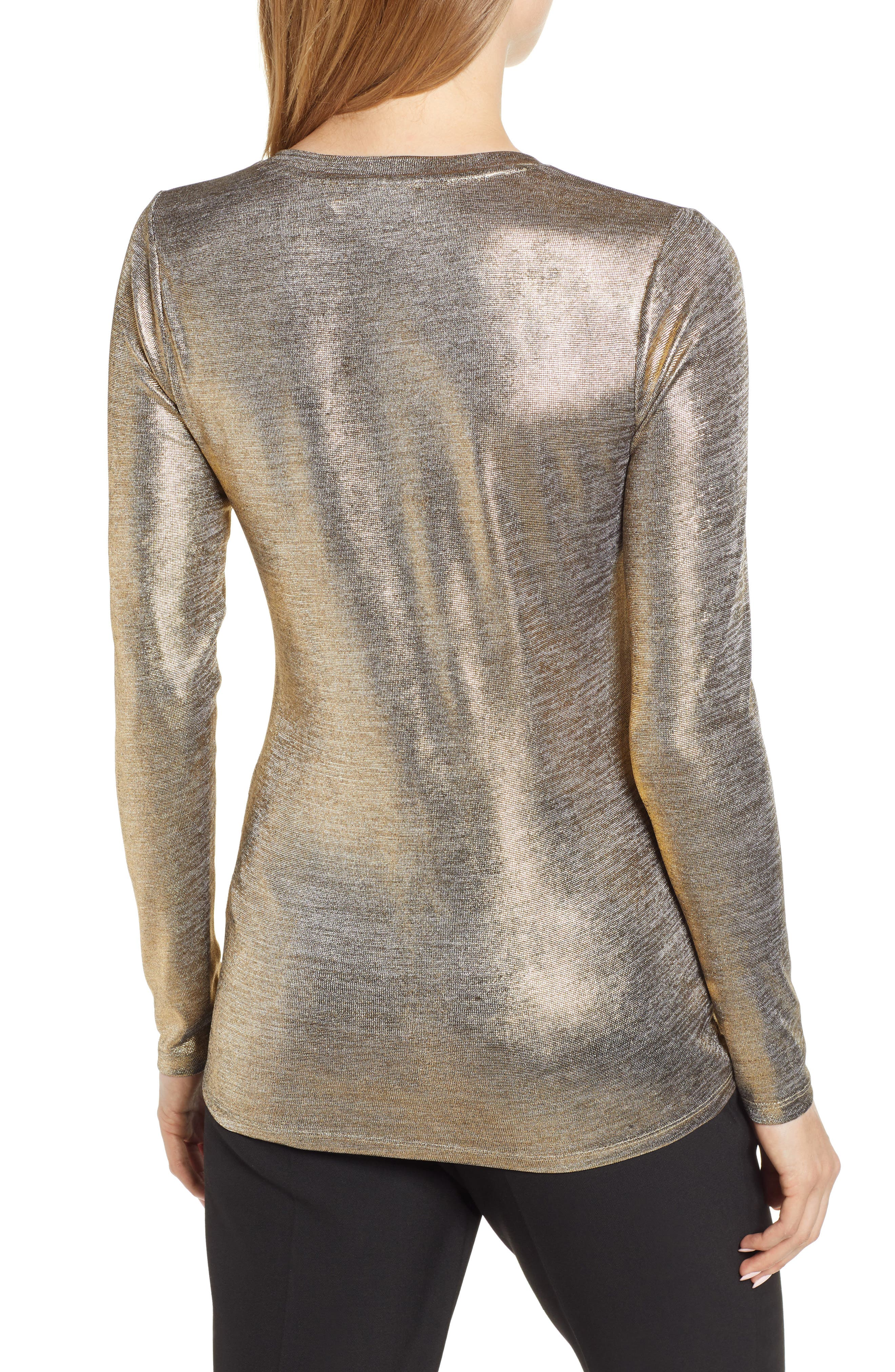 Foiled Jersey Top,                             Alternate thumbnail 2, color,                             710