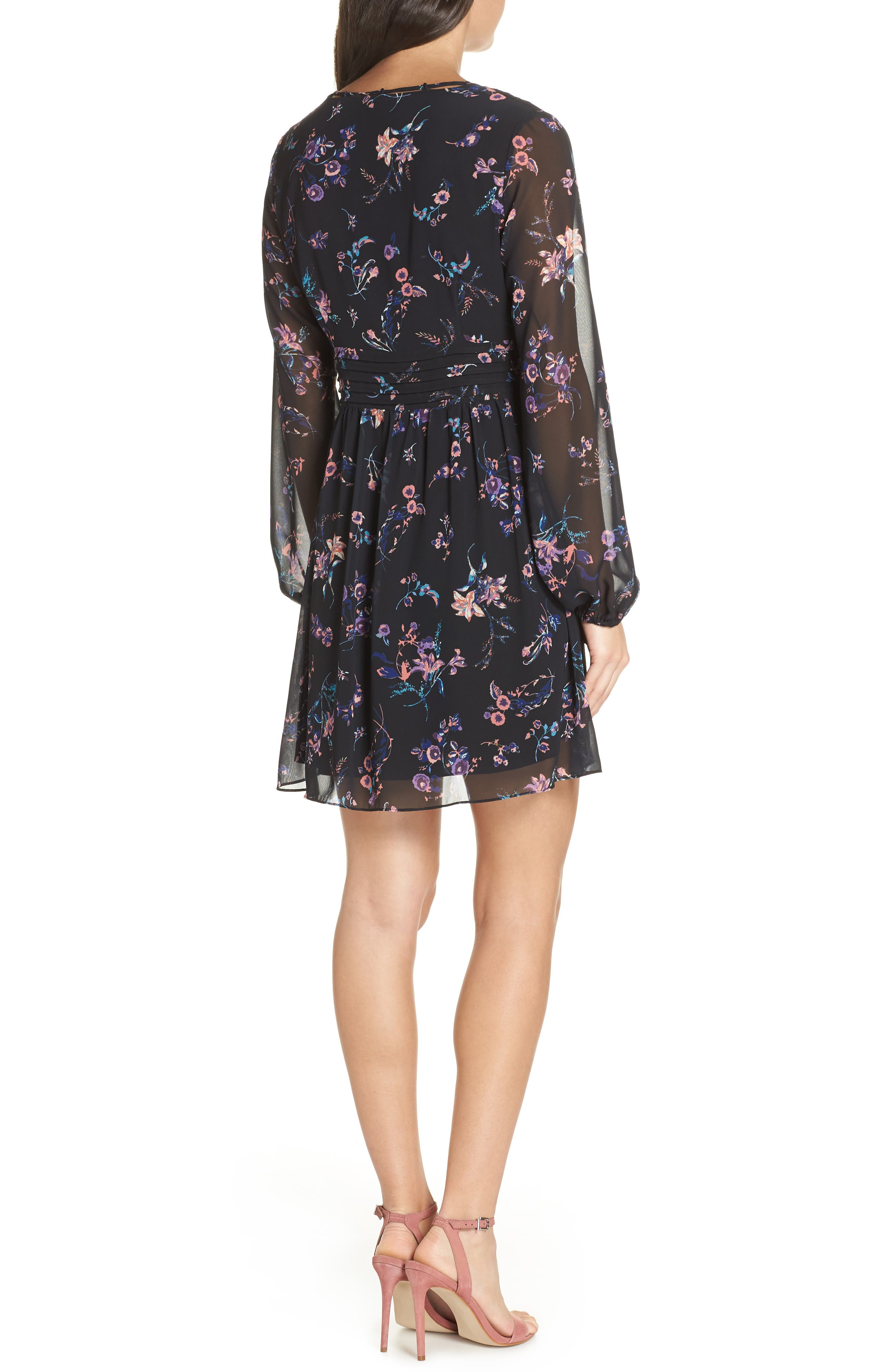 SAM EDELMAN,                             Floral Print Dress,                             Alternate thumbnail 2, color,                             004