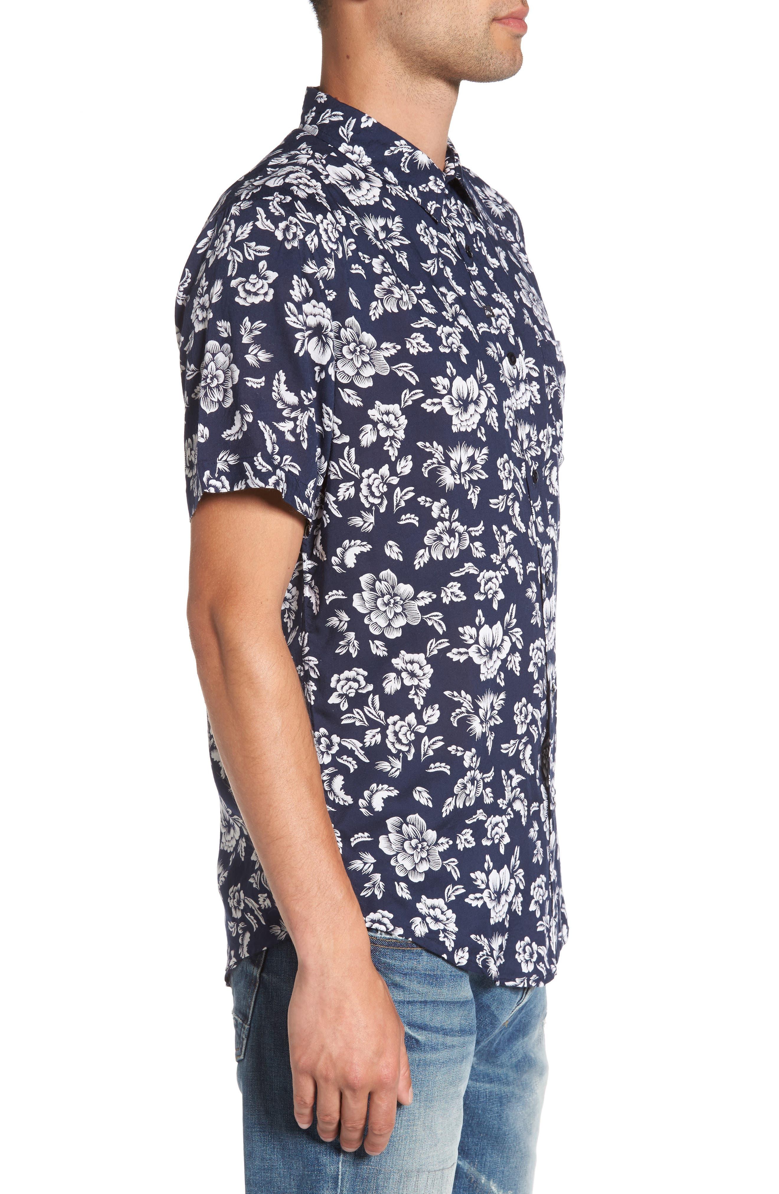 Havanna Trim-Fit Woven Shirt,                             Alternate thumbnail 3, color,                             400