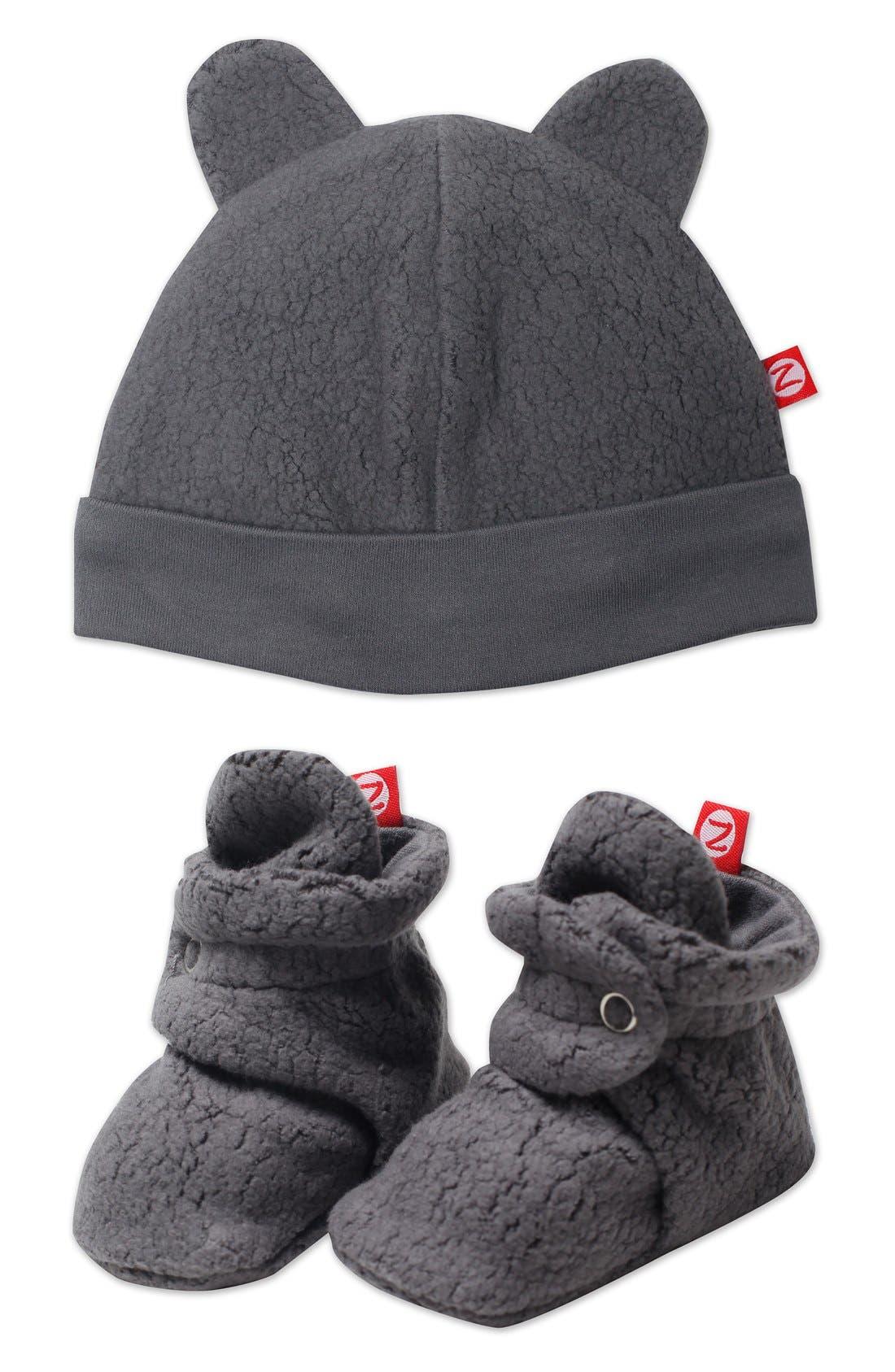 'Cozie' Hat & Bootie Set,                             Main thumbnail 1, color,                             030