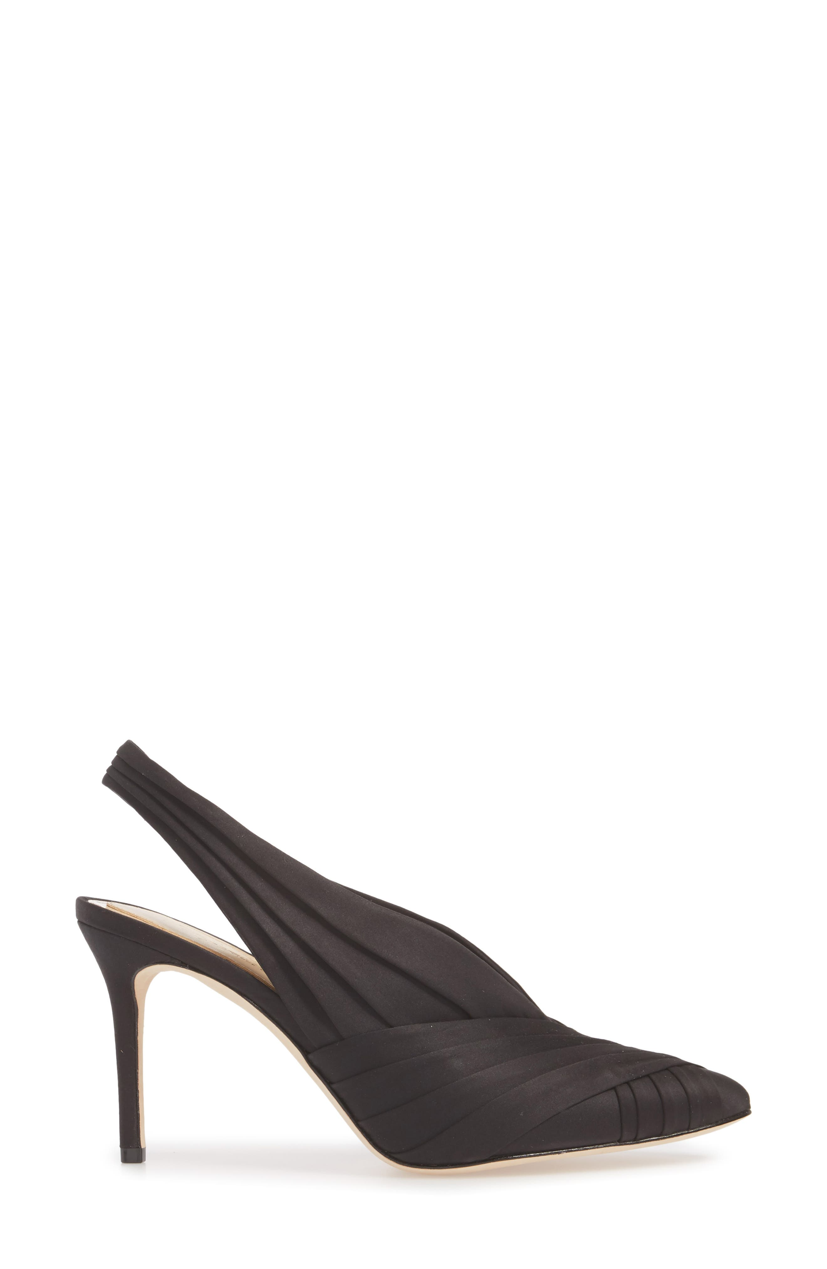 Melkia Pump,                             Alternate thumbnail 3, color,                             BLACK SATIN