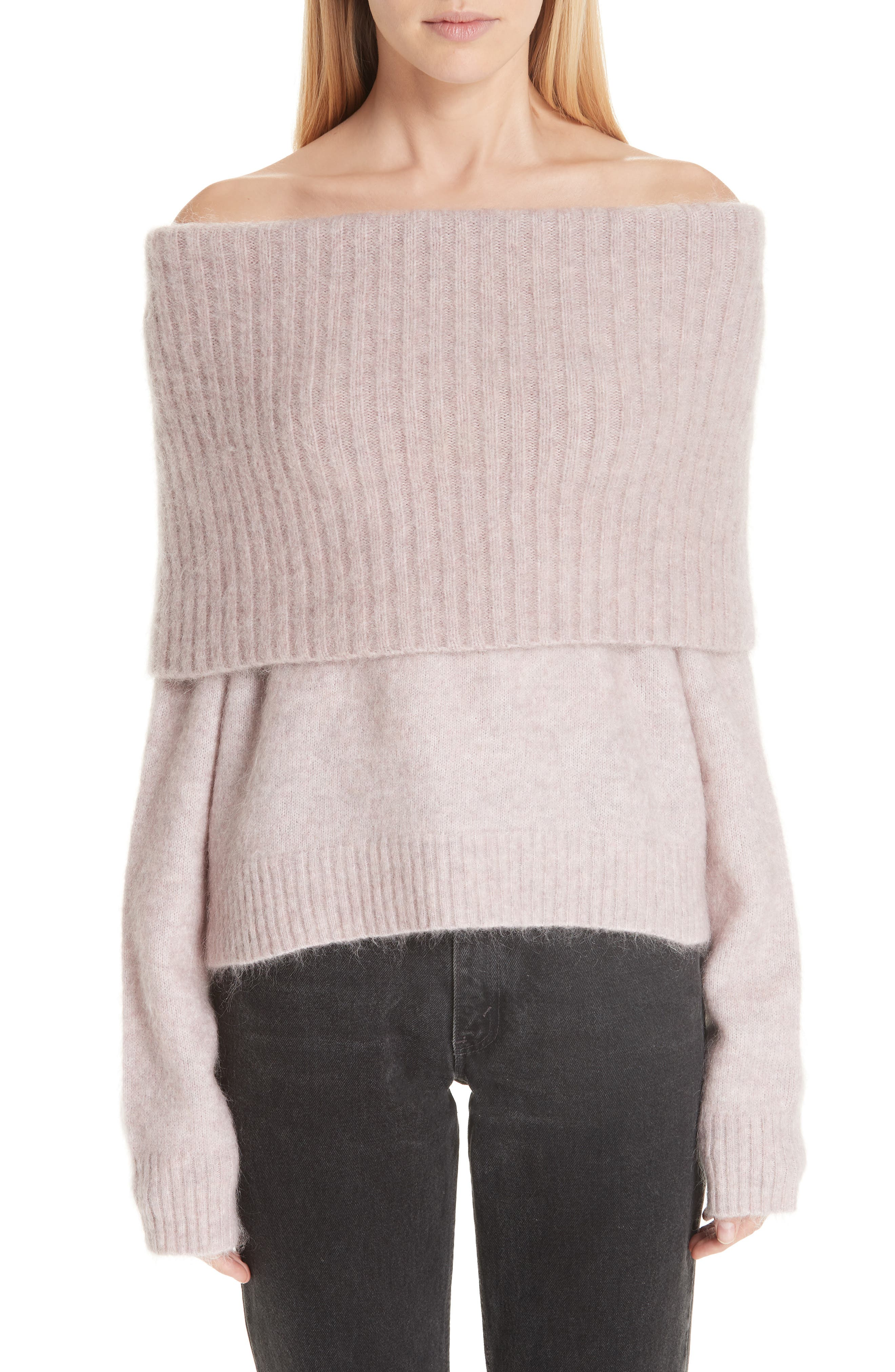 Off the Shoulder Sweater, Main, color, 650