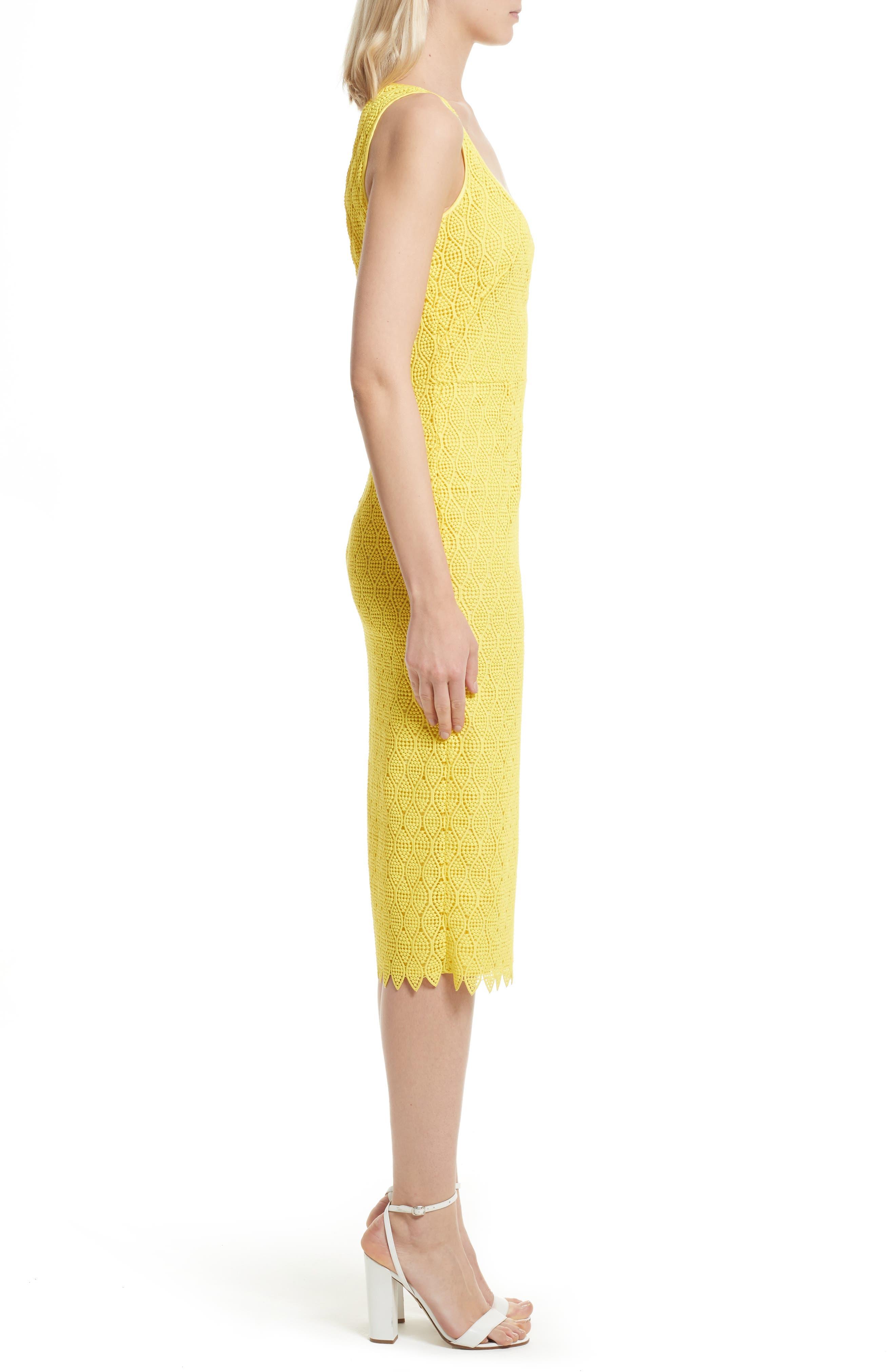 Lace Midi Sheath Dress,                             Alternate thumbnail 3, color,                             732