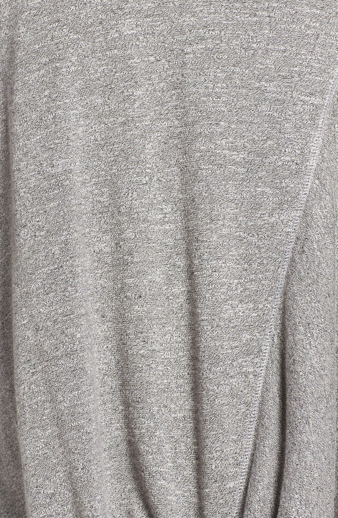 Twisty Turn Tee,                             Alternate thumbnail 6, color,                             GREY DARK HEATHER