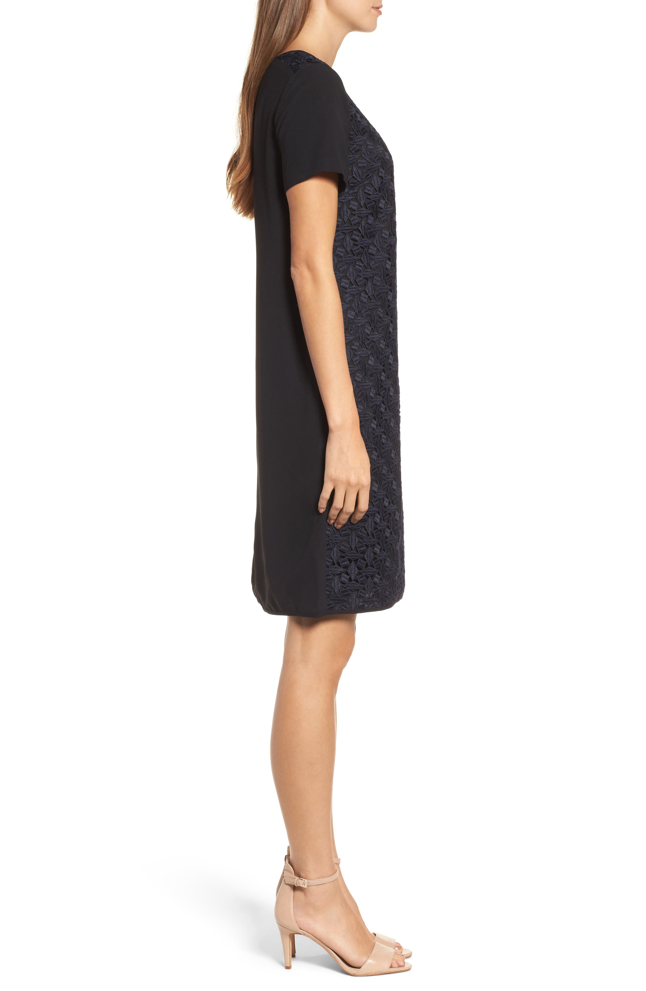 Night Out Shift Dress,                             Alternate thumbnail 3, color,                             403