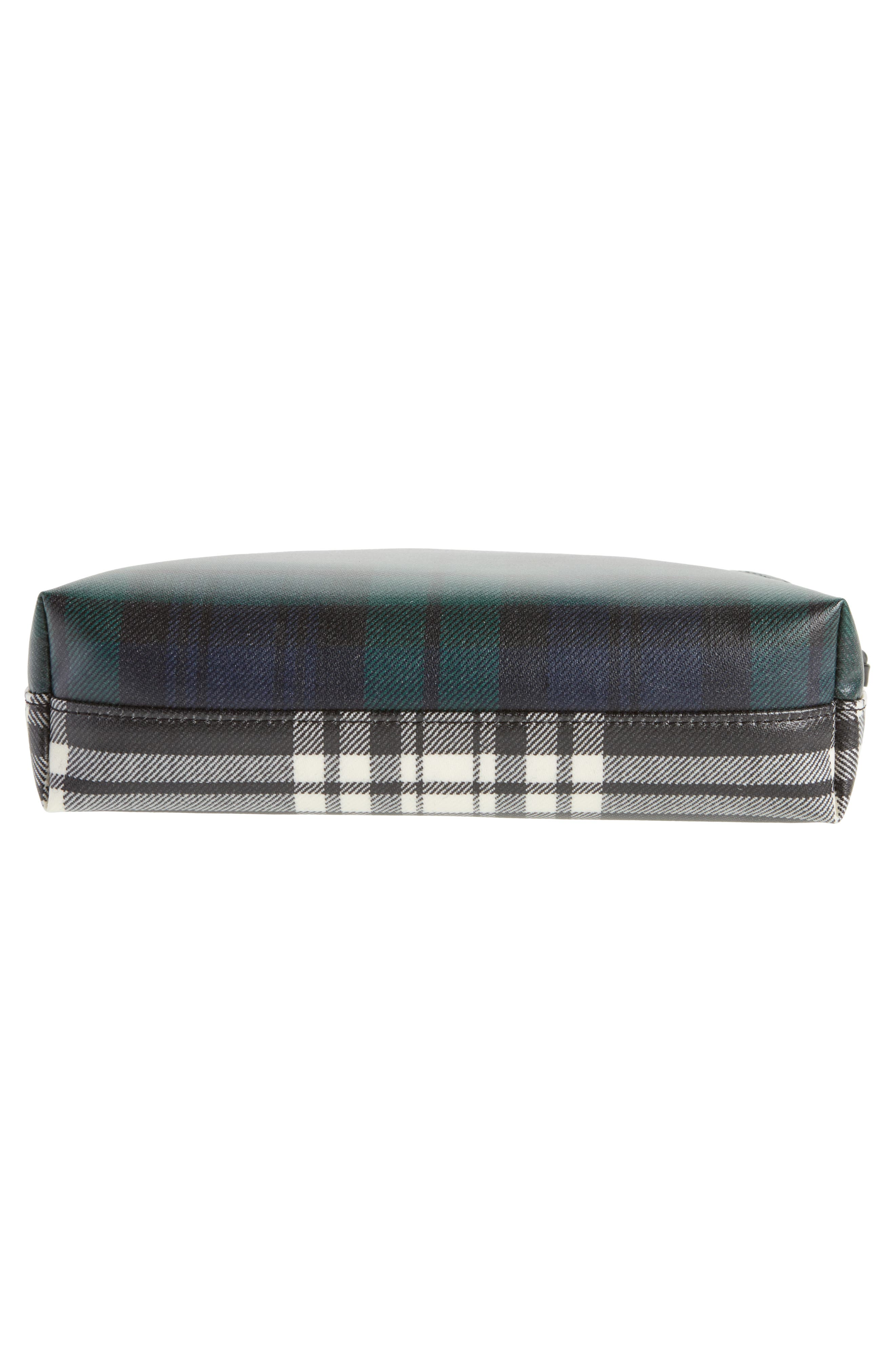 Laminated Tartan Pouch,                             Alternate thumbnail 6, color,                             001