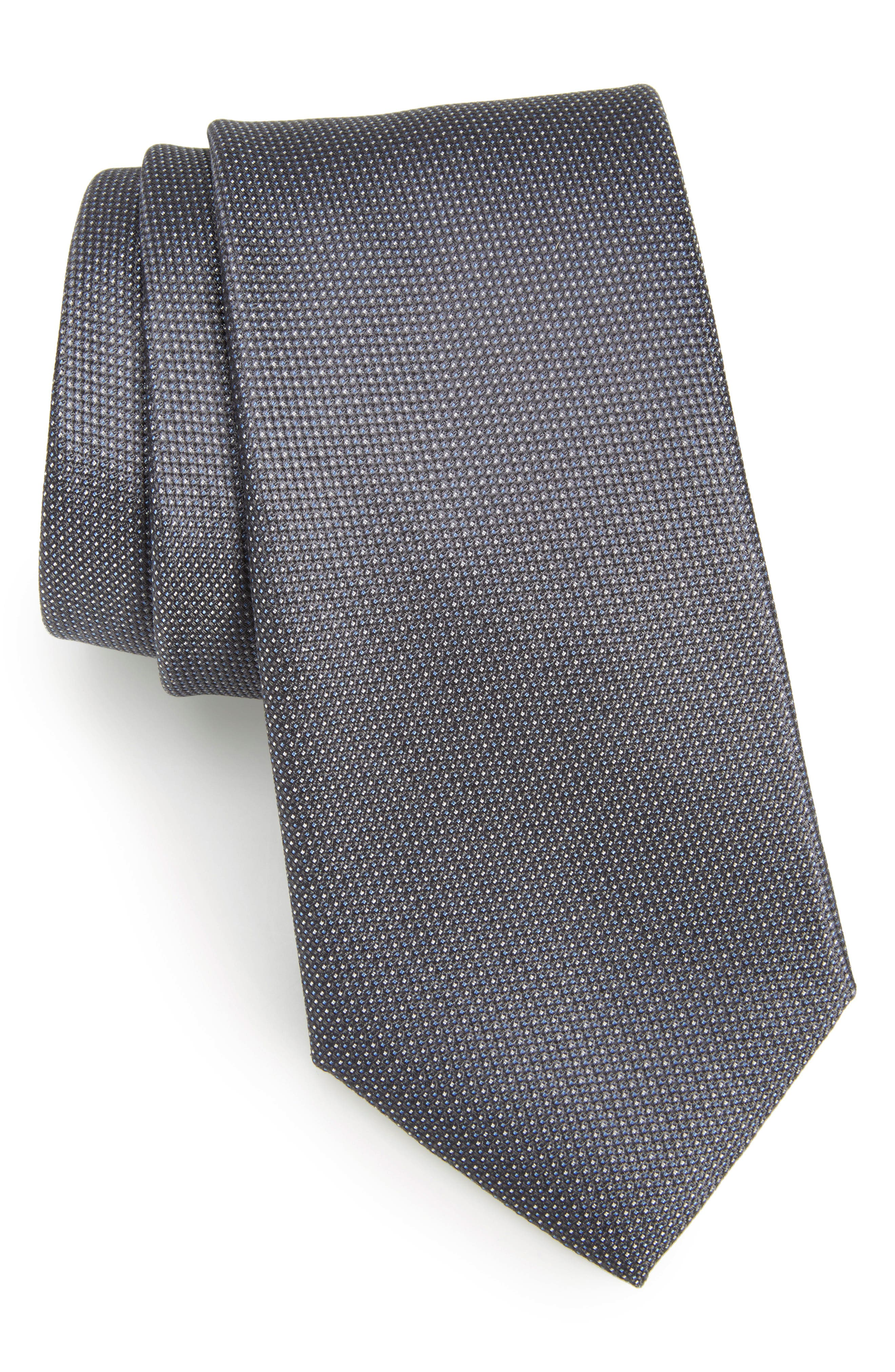 Rawson Solid Silk Tie,                         Main,                         color, 010