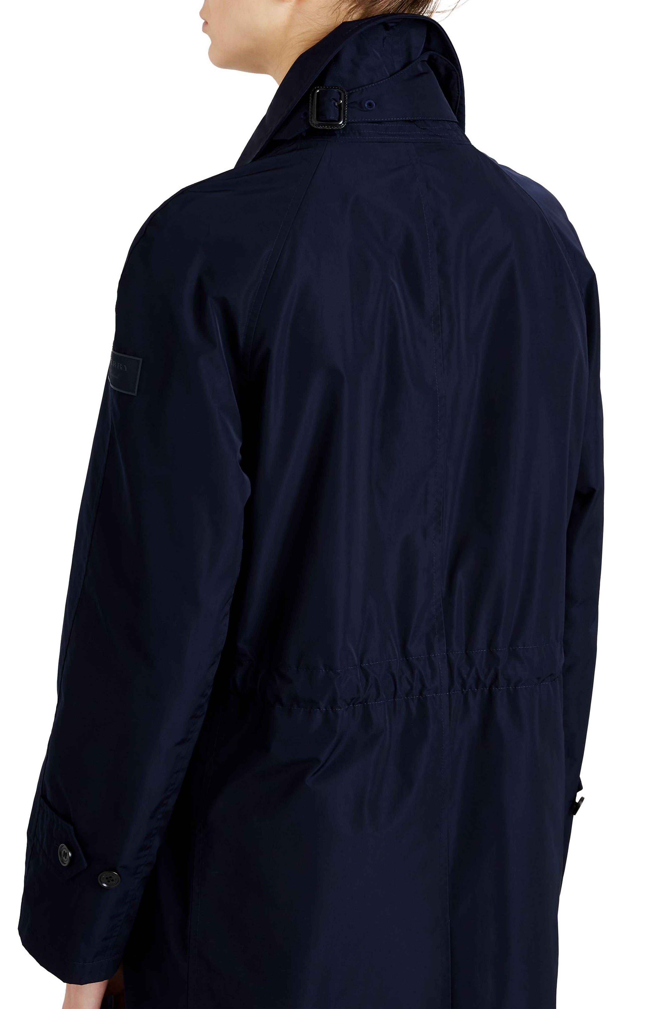 Tringford Waterproof Hooded Coat,                             Alternate thumbnail 4, color,                             NAVY