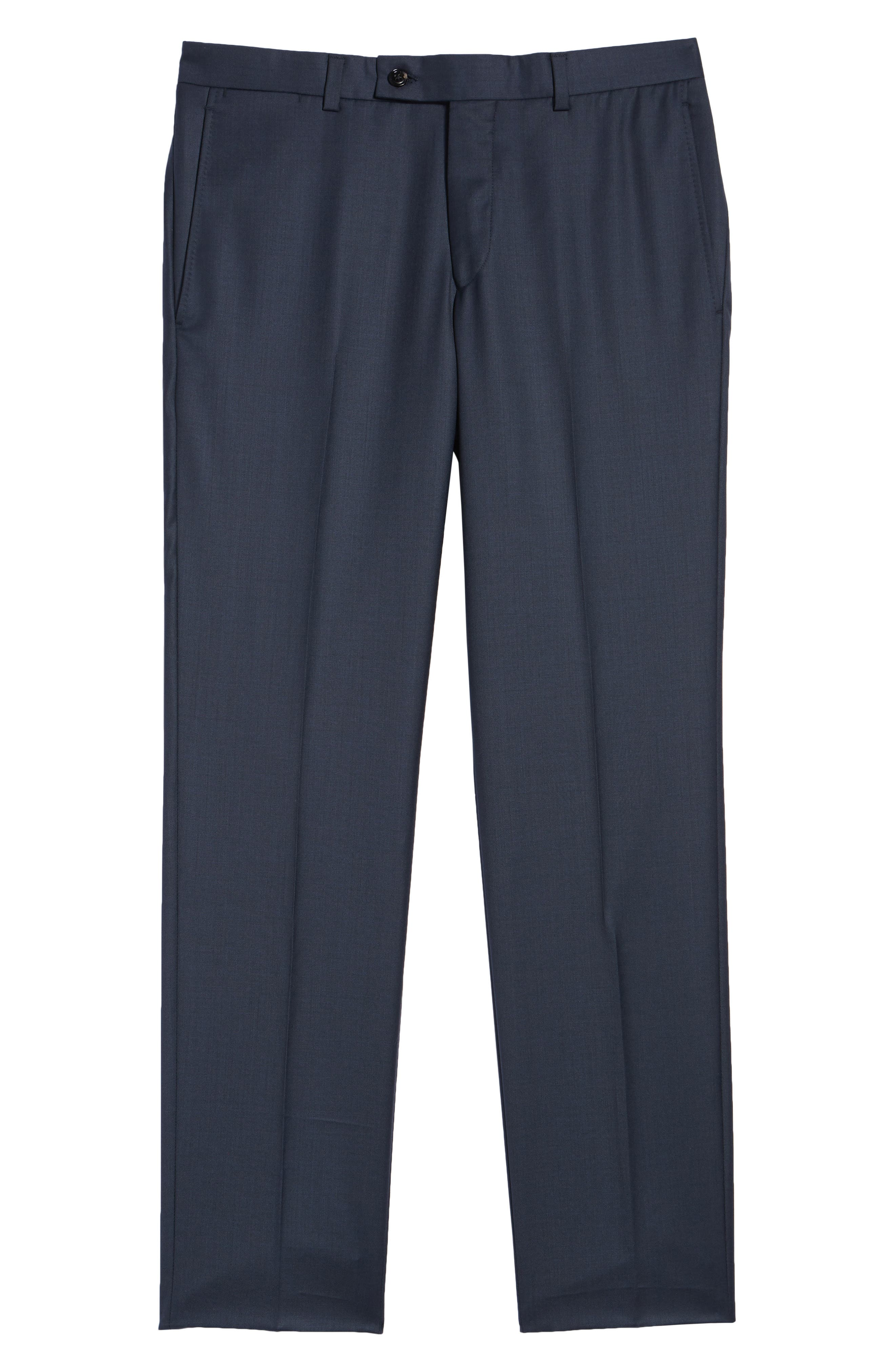 Jefferson Flat Front Wool Trousers,                             Alternate thumbnail 36, color,