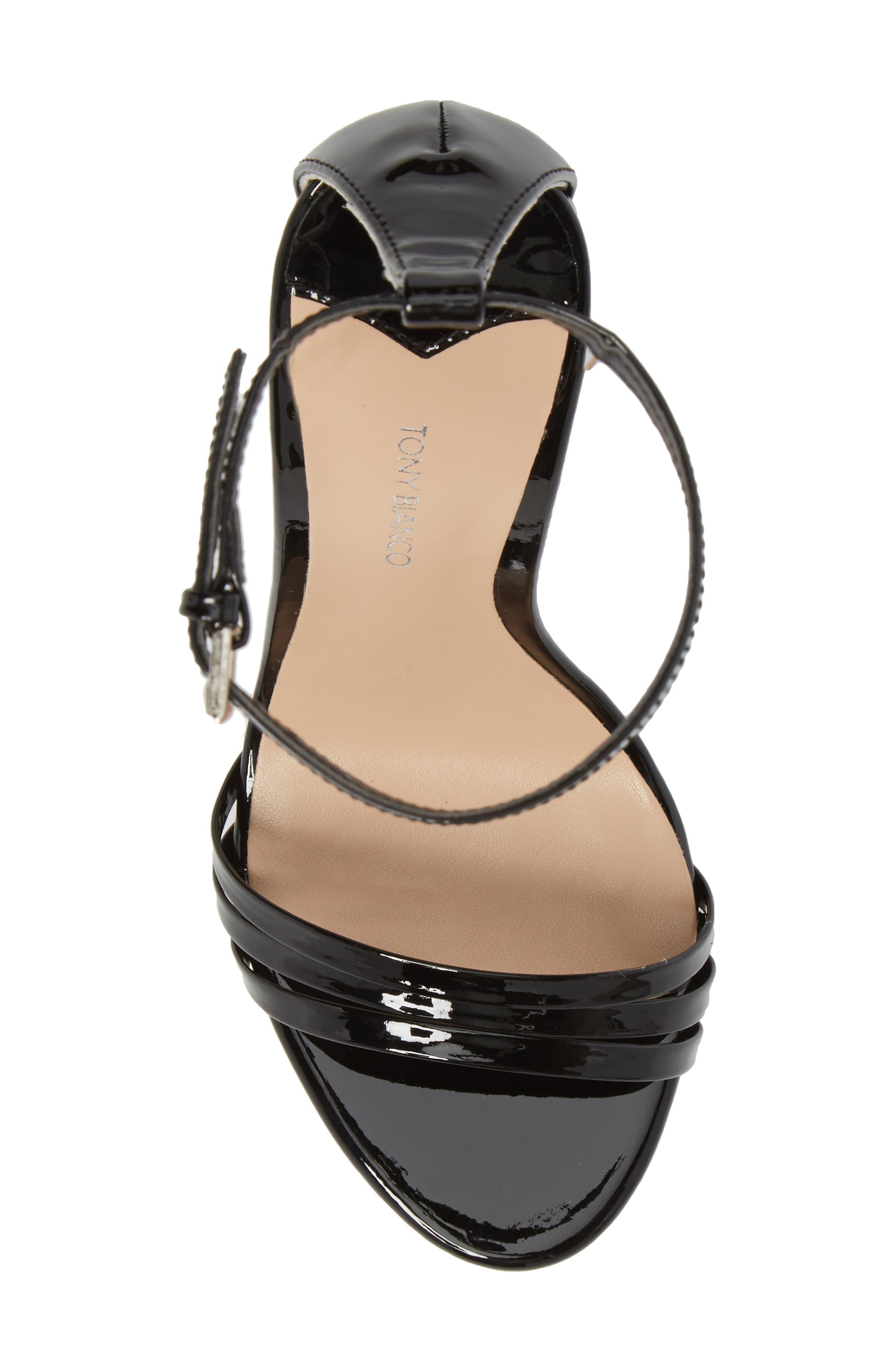 Aroma Strappy Sandal,                             Alternate thumbnail 5, color,                             BLACK PATENT LEATHER